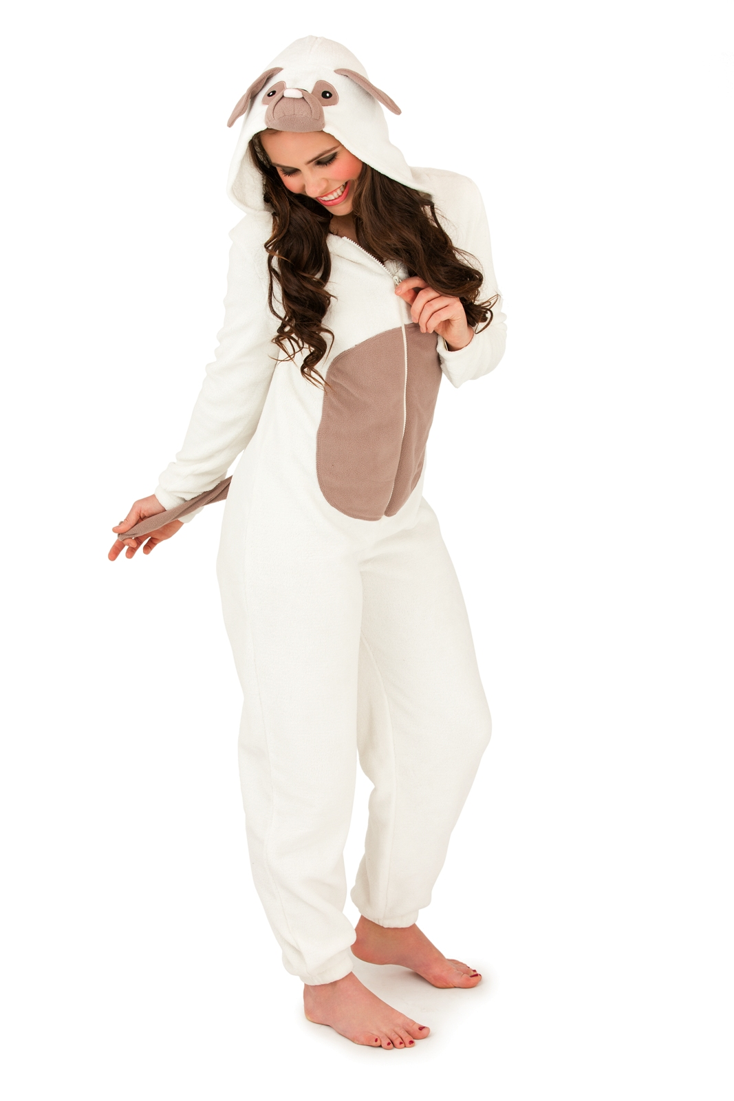 Lounge District white Pug Onesie for Women Online Shopping in Dubai, Abu Dhabi, UAE - LOAT67UQE - Free Next Day Delivery day Exchange, Cash On Delivery.