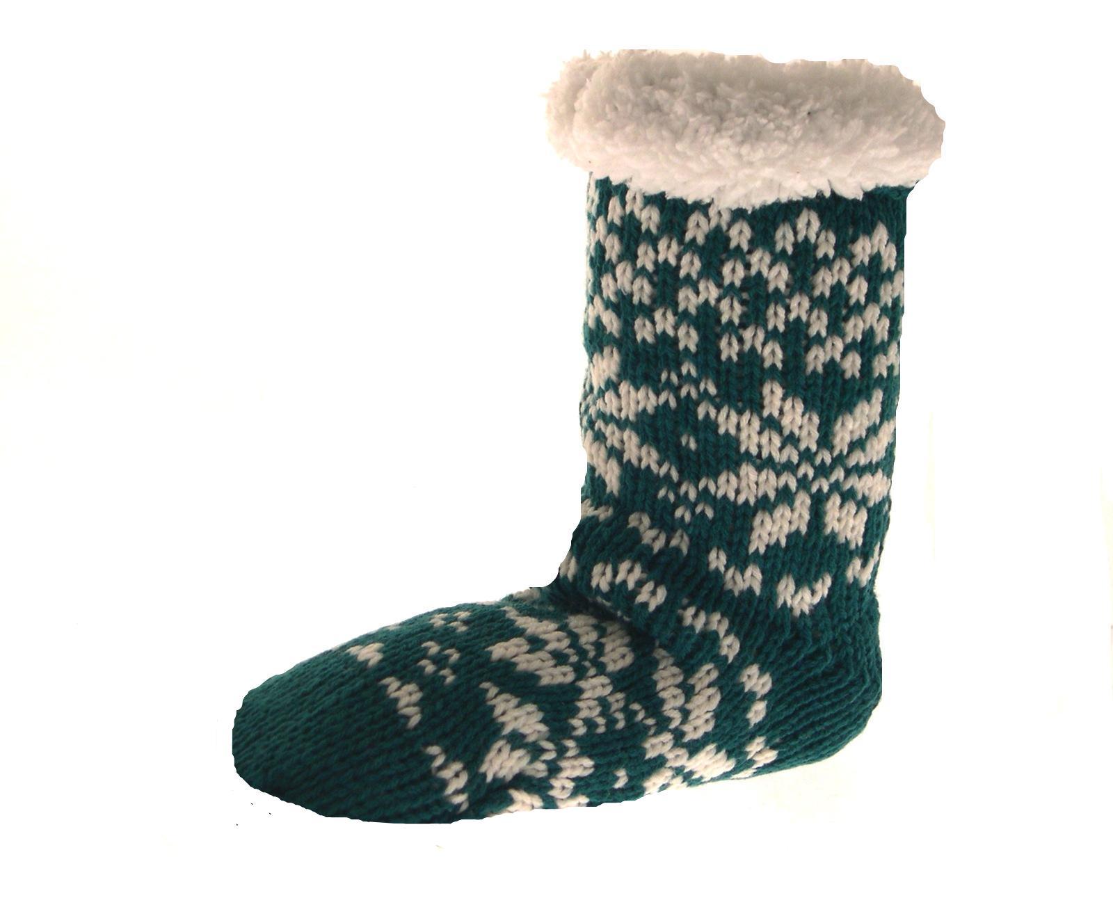 Womens Ladies Girls Kids Fur Lined Slipper Socks Ankle Boots Booties Size UK 4-7 | EBay
