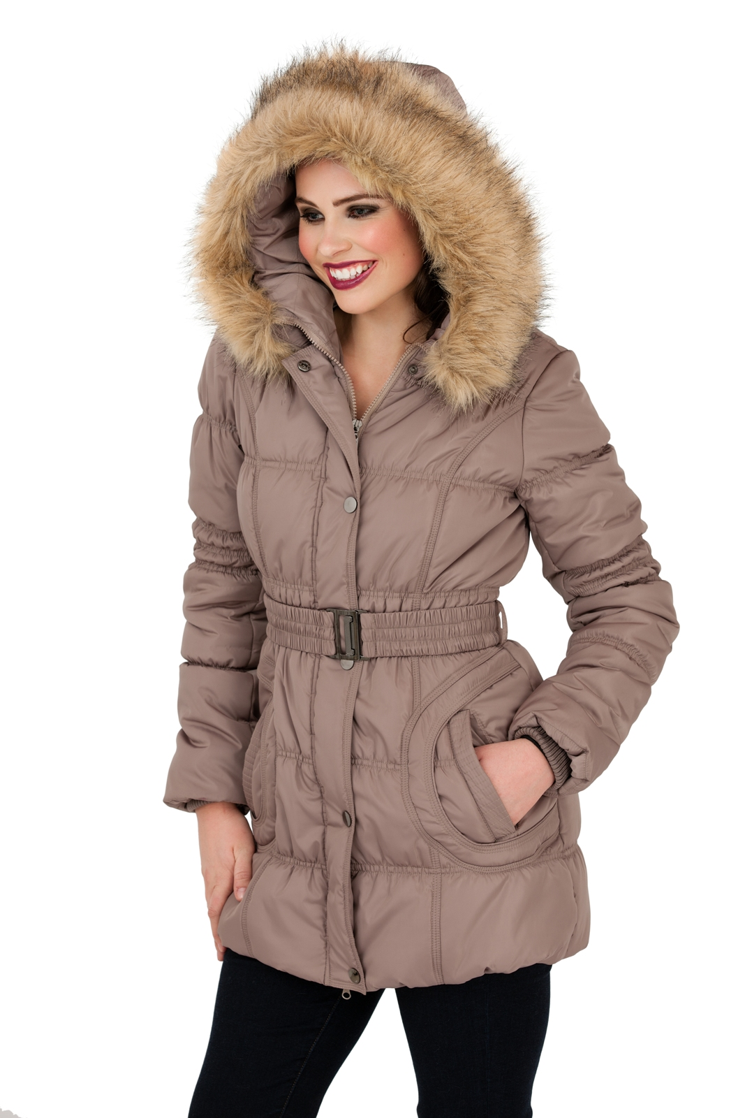 Womens hooded parka coats