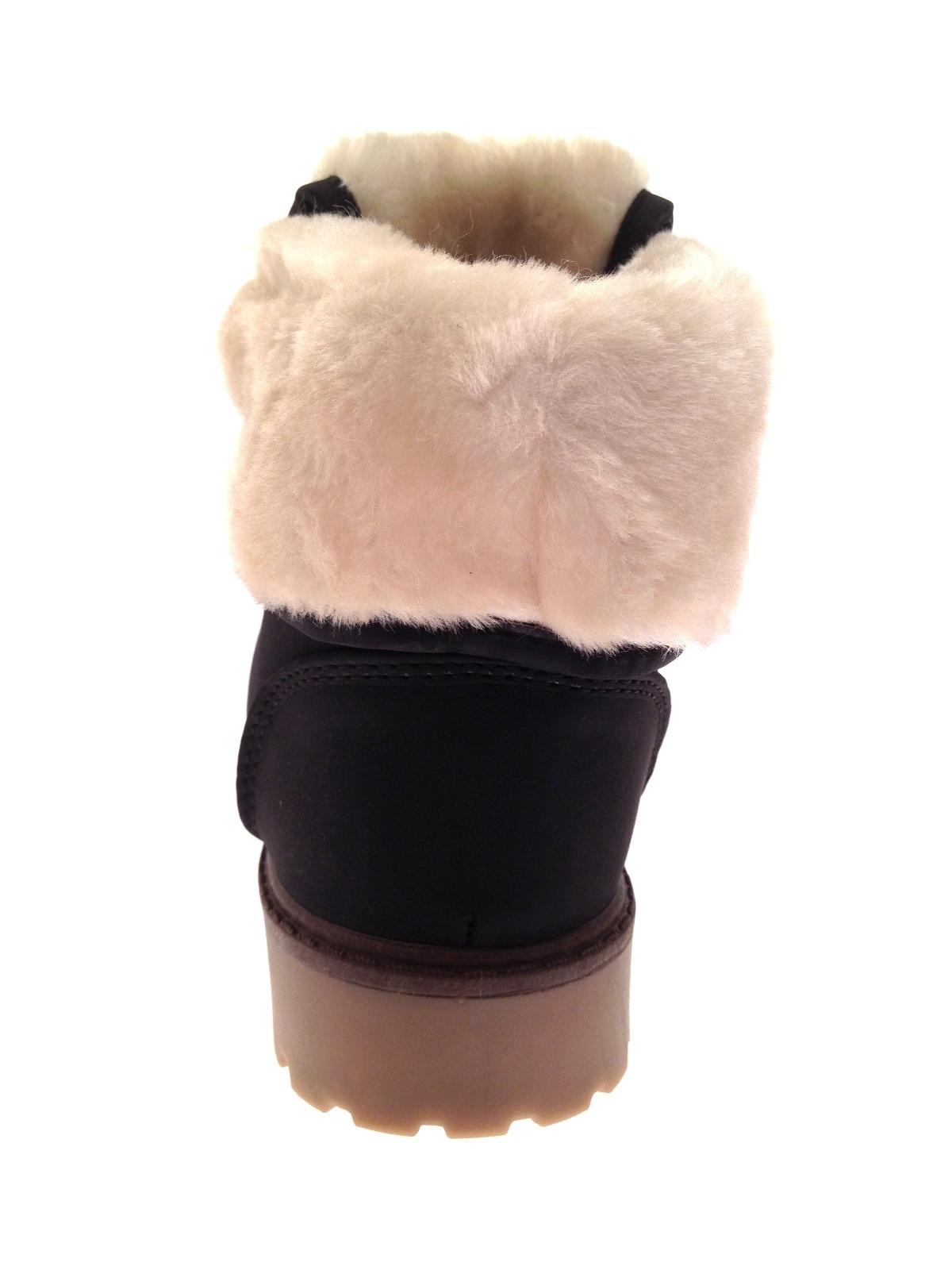 Girls Kids Flat Fur Lined Army Ankle Combat Worker Snow ...
