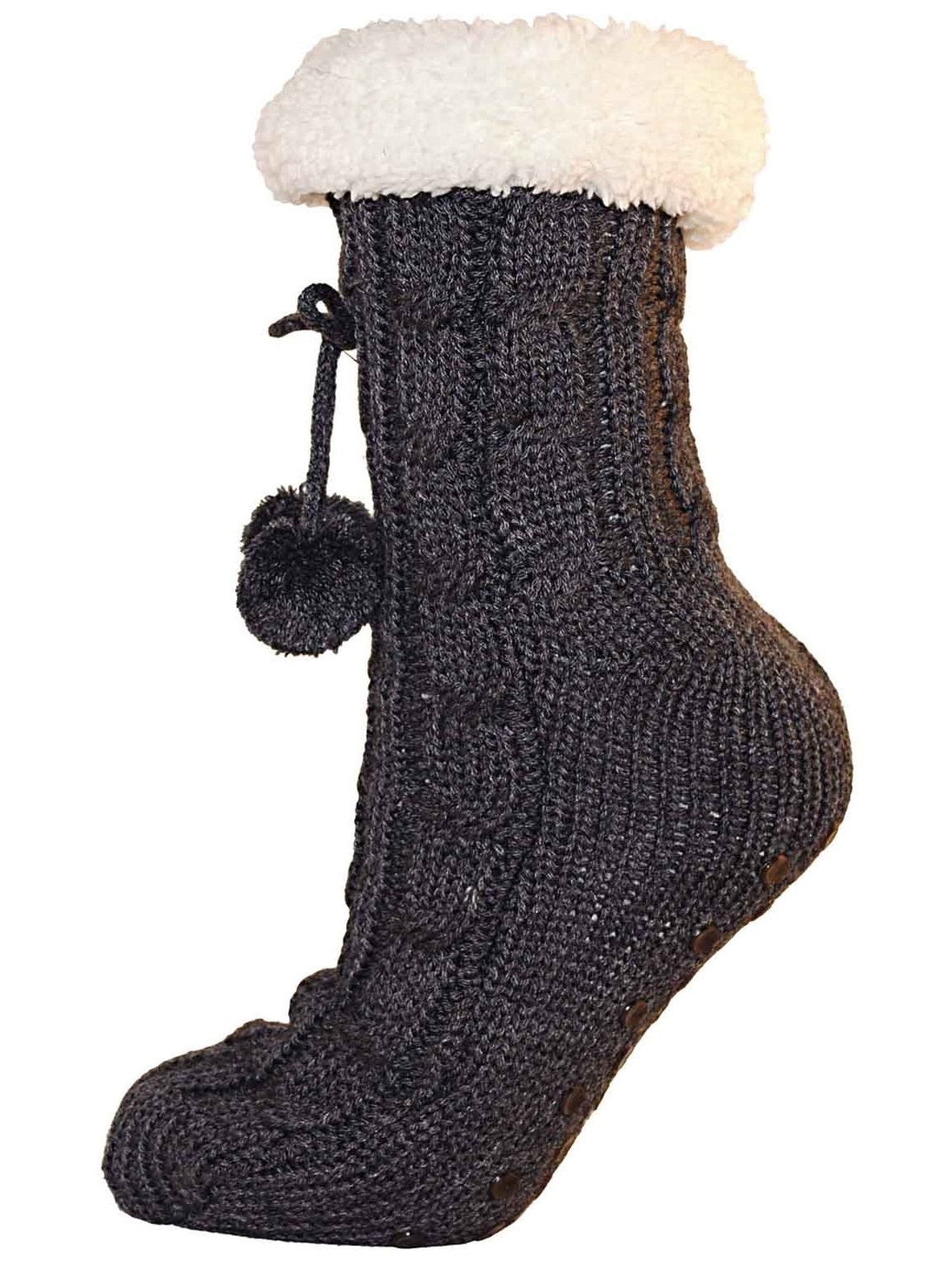 femme femmes filles doubl de fourrure chaussons chaussettes bottines chaussons pompons taille 4. Black Bedroom Furniture Sets. Home Design Ideas