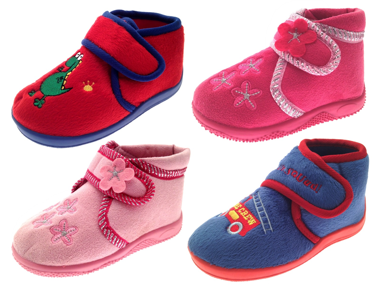 Kids Boys Girls Toddlers Slippers Boots Booties Childrens Shoes Xmas Size 4-10 | EBay