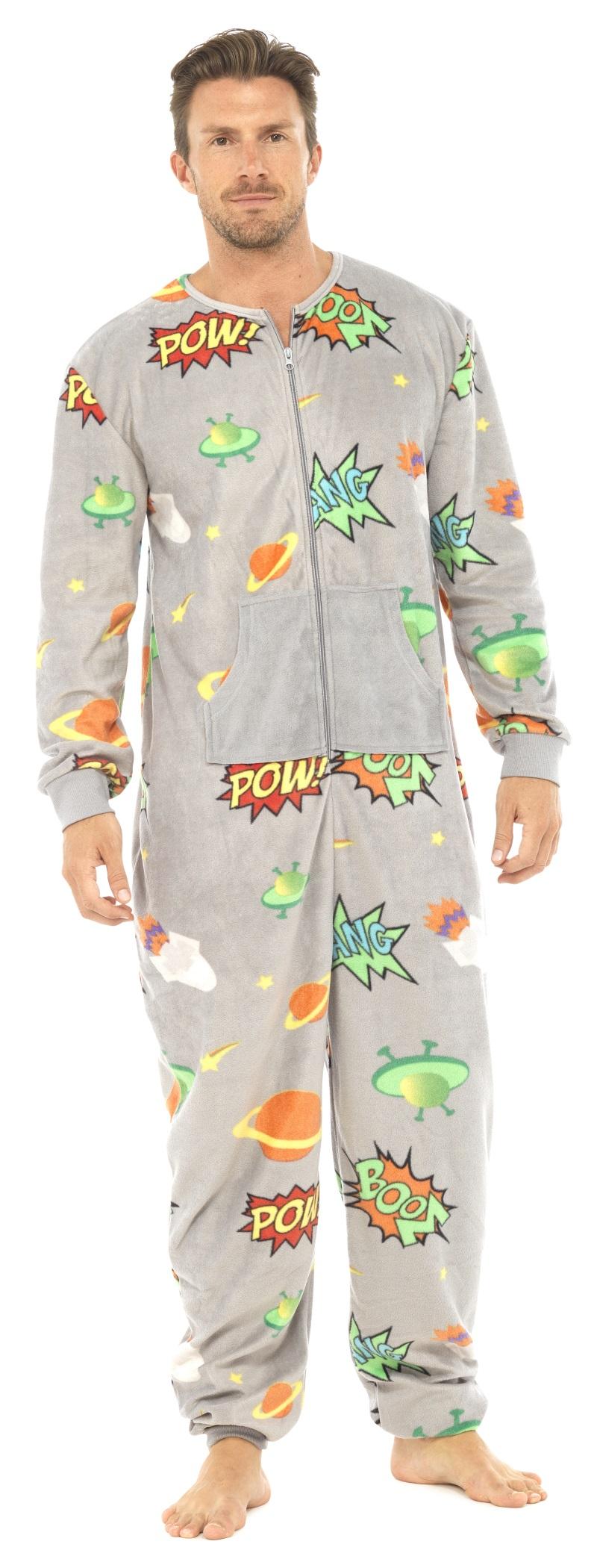 Mens full length fleece onesie zip all in one jumpsuit for Mens dress shirt onesie