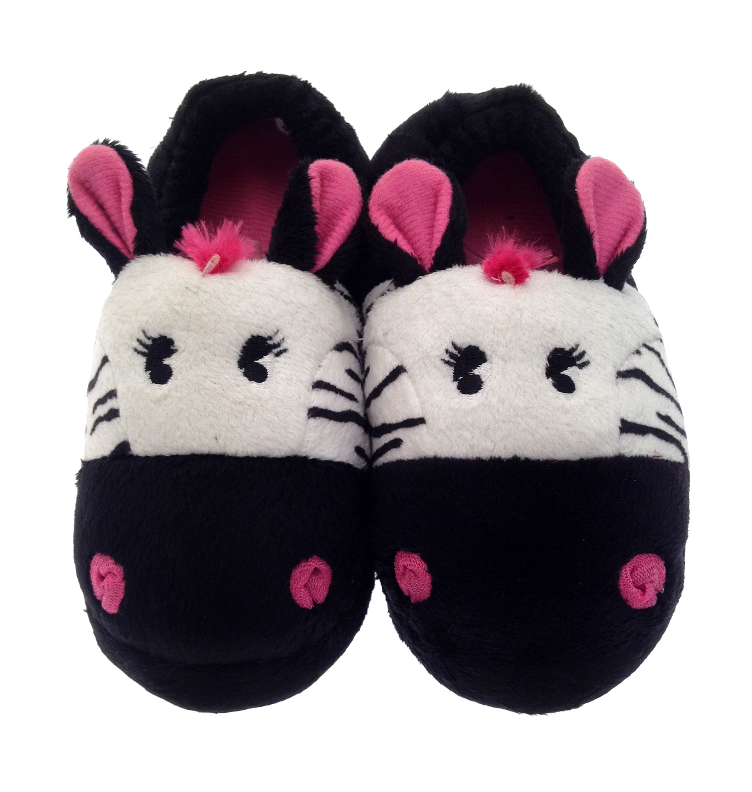 Girls Novelty Plush Animal Slippers Booties Kids Mule House Shoes Gift Size