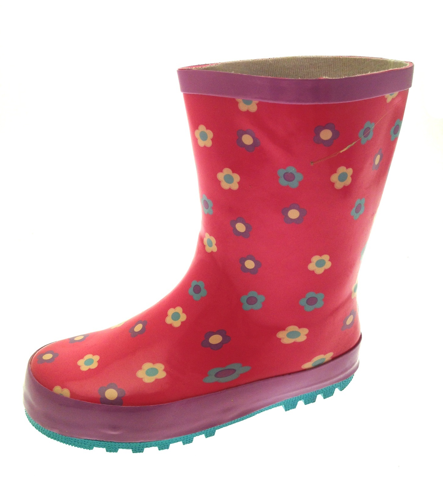 Kids Girls Rubber Rain Snow Boots Wellies Wellingtons ...
