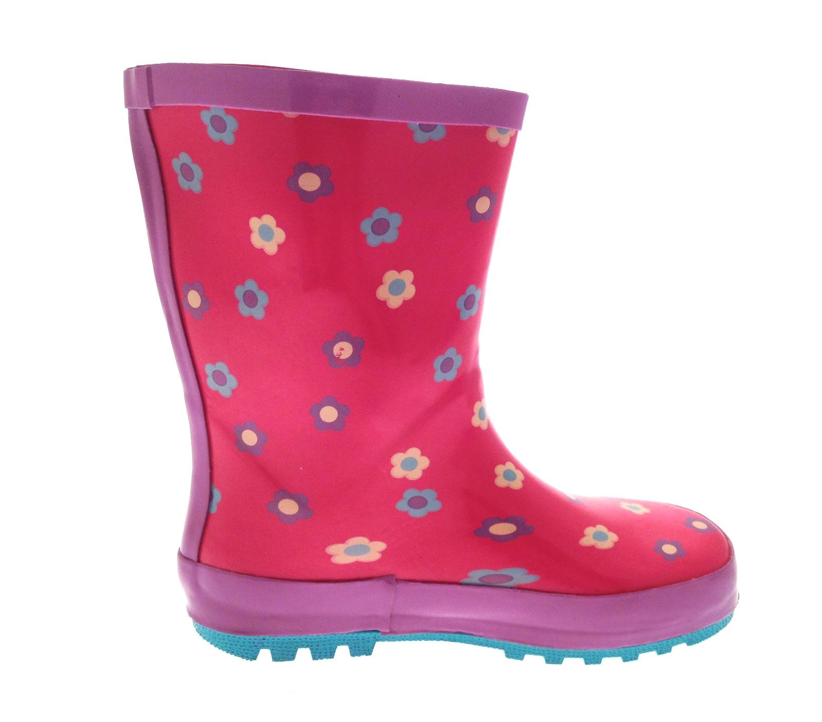 Mermaid Glitter Girls Wellington Rain Boots Wellys