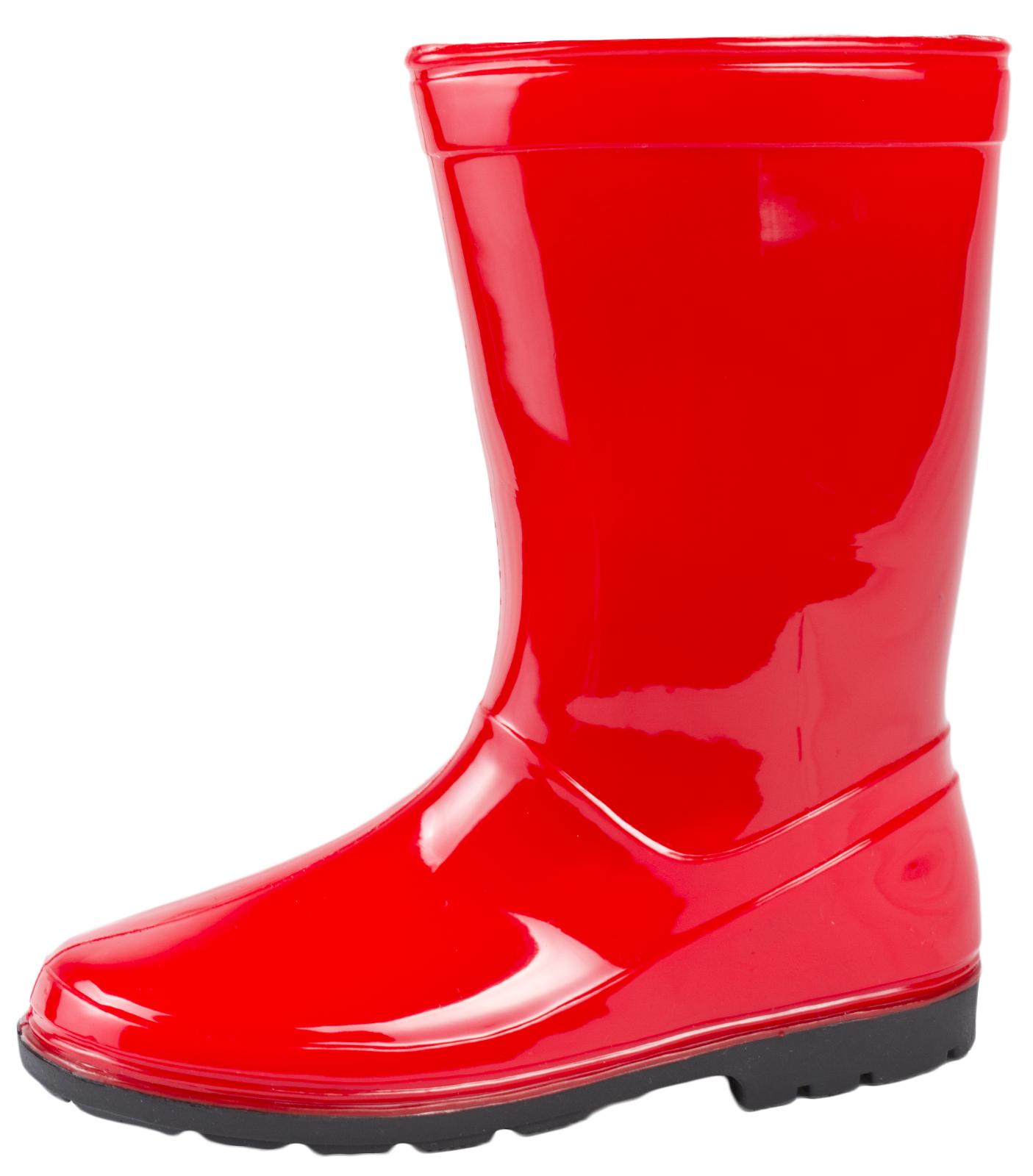 Kids Boys Girls Mid Calf Rain Snow Boots Wellies Wellingtons ...
