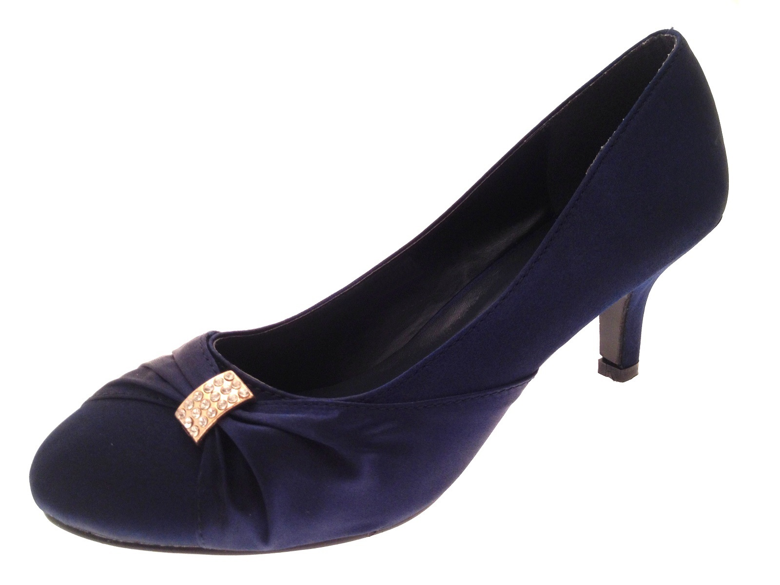 Navy Blue Low Heel Womens Shoes