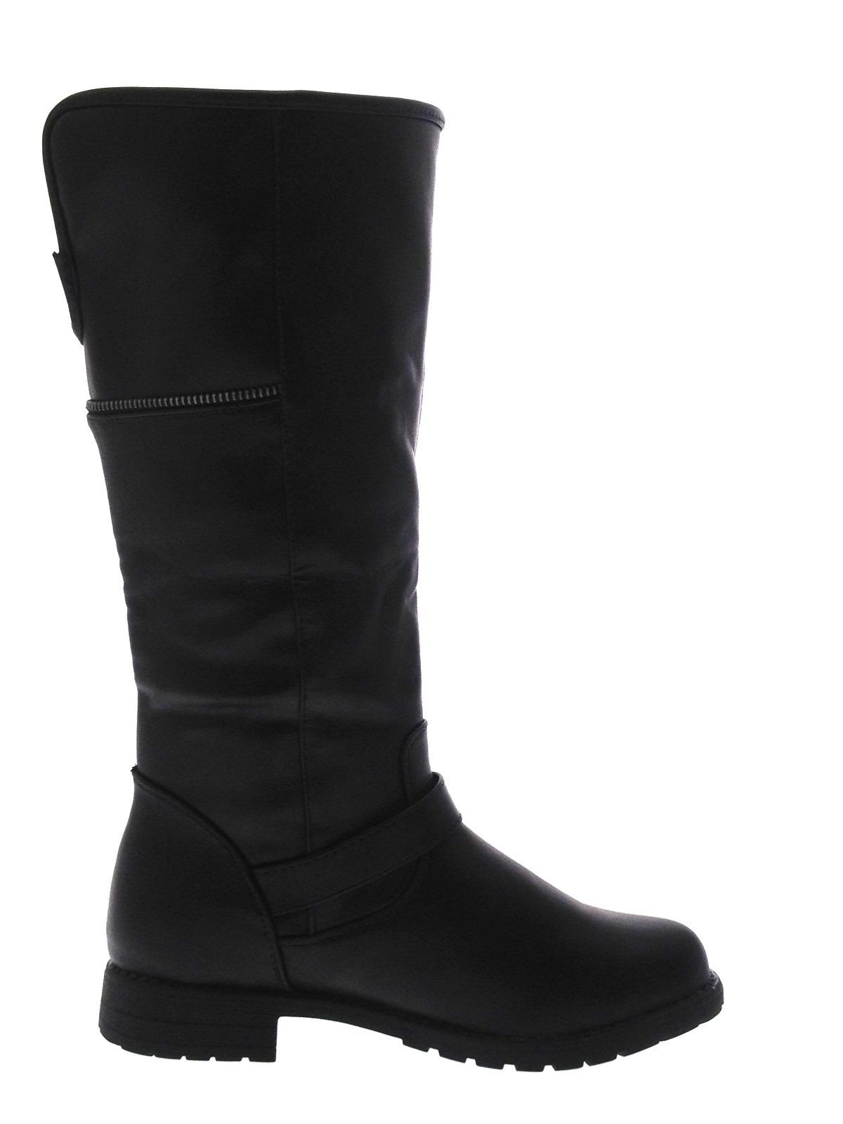 Simple Ladies Black Or Dark Grey Biker Boots Womens Boots Size Uk 3 4 5 6 7 8 | EBay