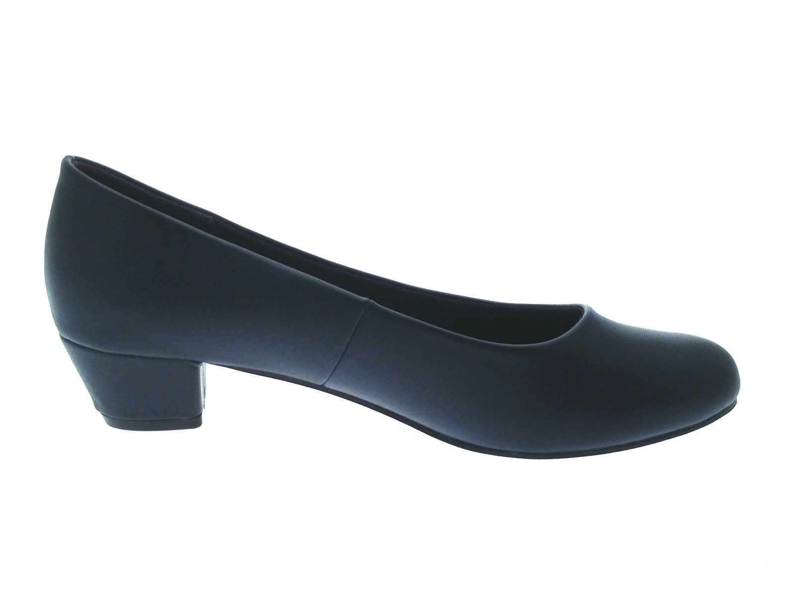 Womens Low Block Heels Comfort Work Office Loafer Court Shoes Ladies Size UK 3-8 | EBay