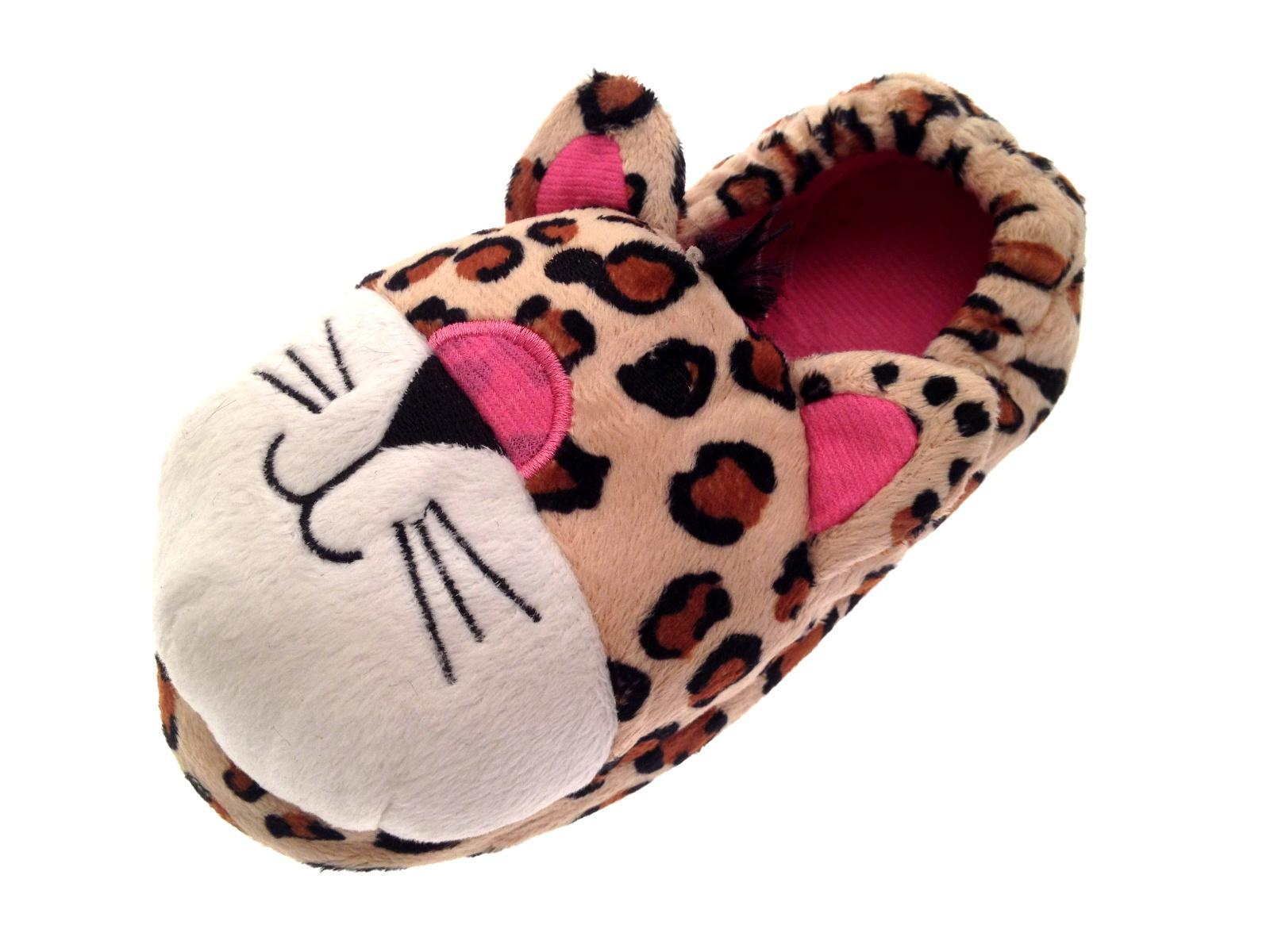 439a6d74c00 Girls Plush 3D Animal Slippers Boots Character Winter Booties Xmas ...
