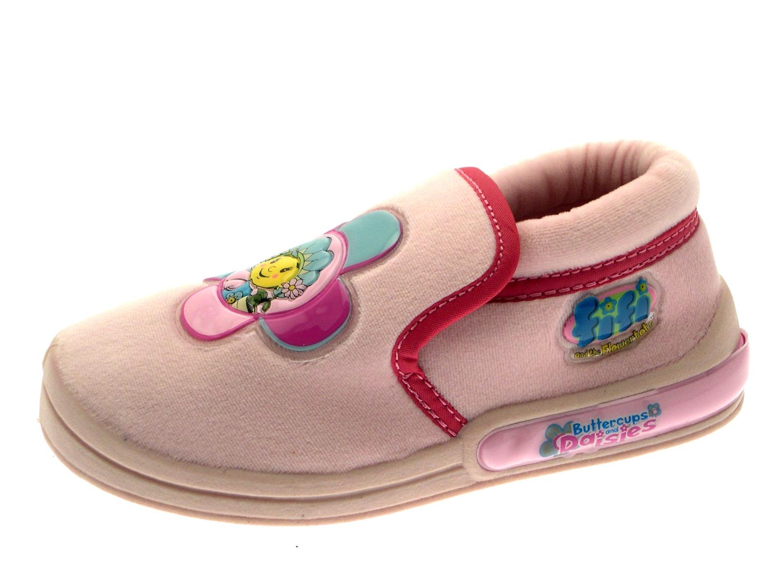 Niños CHICAS Fifi and the Flowertots Rosa Zapatillas Para Niños Zapatos Talla Uk 4 - 10