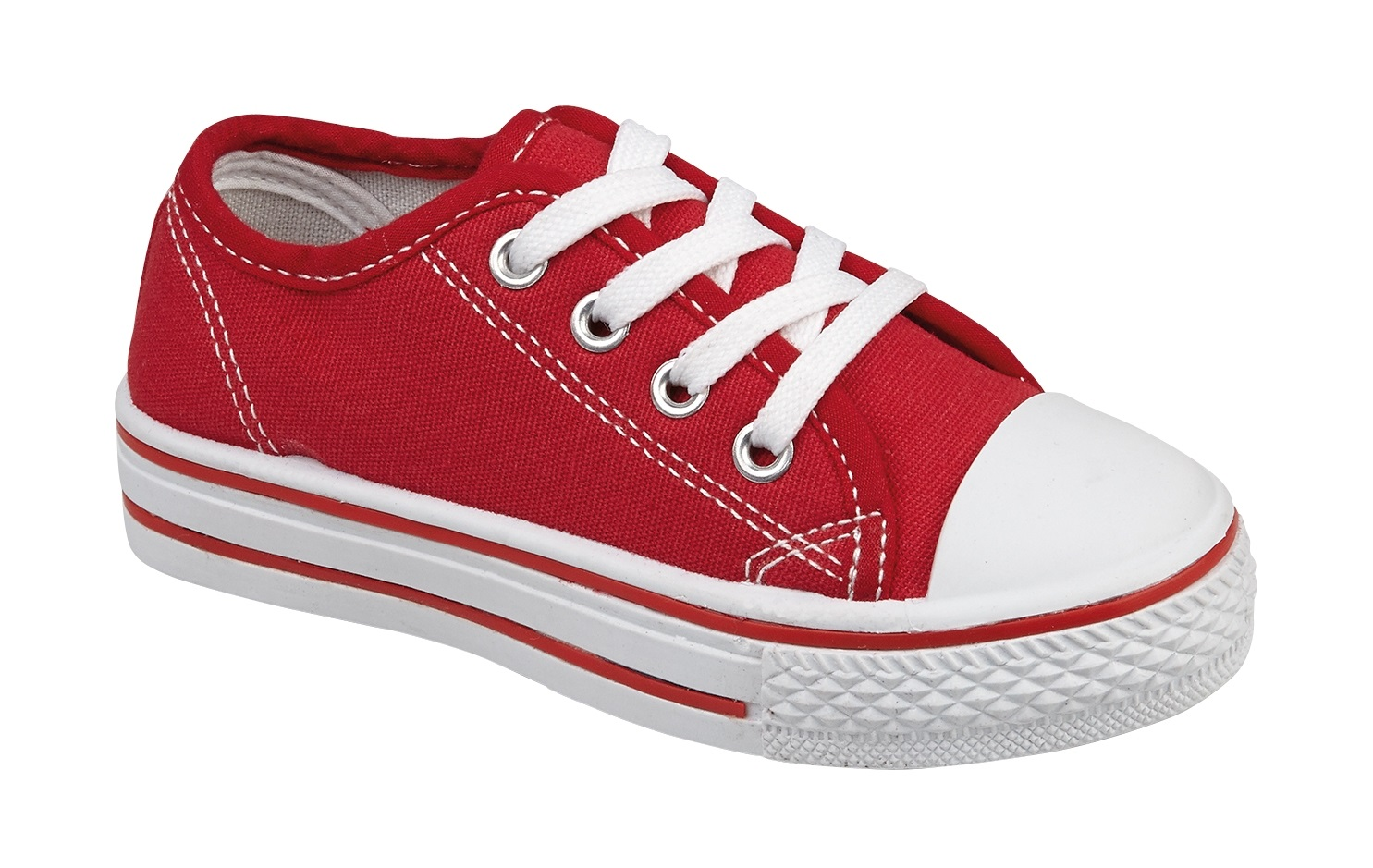 Red Canvas Lace Up Shoes