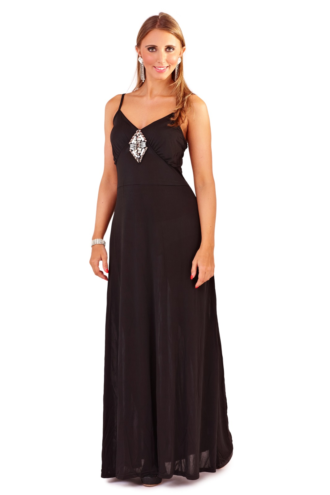Womens Maxi Dress Full Length Summer Party Evening Dress ...