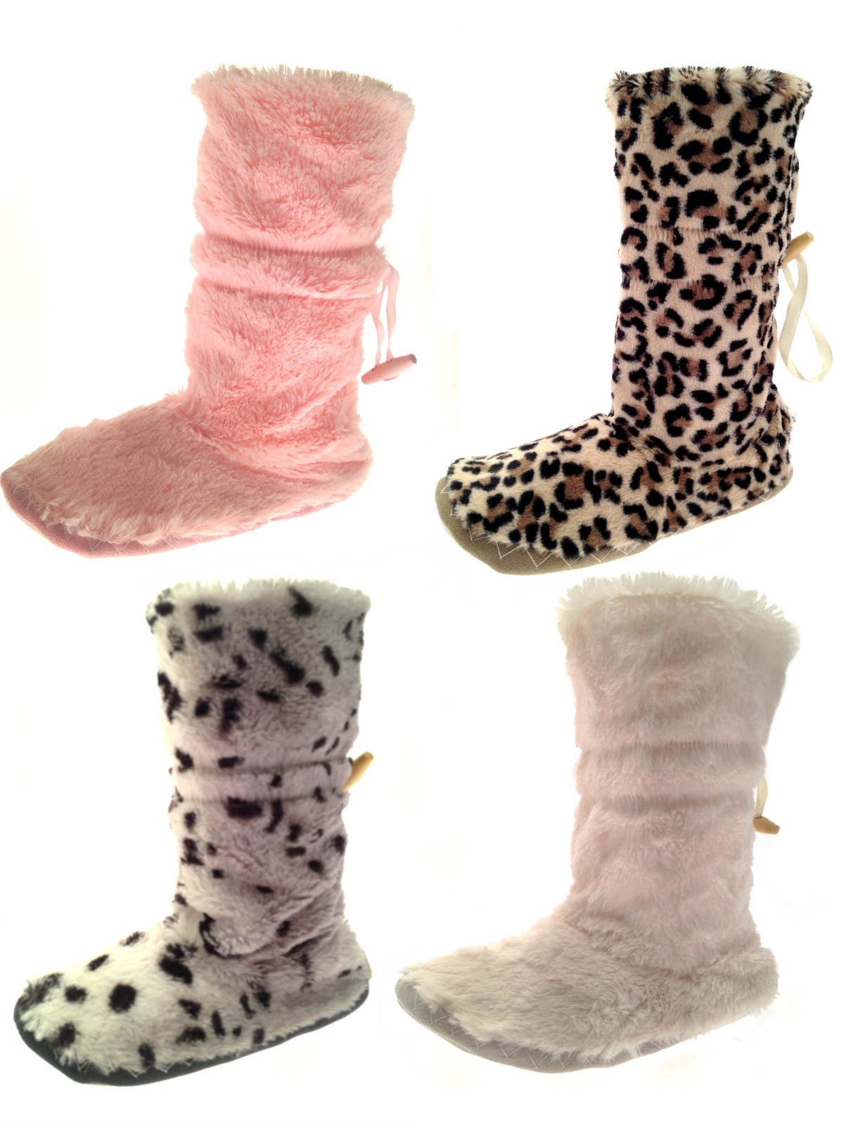 chaussures femme chausson chaussettes fausse fourrure bottes chaussons filles femmes pantoufles. Black Bedroom Furniture Sets. Home Design Ideas