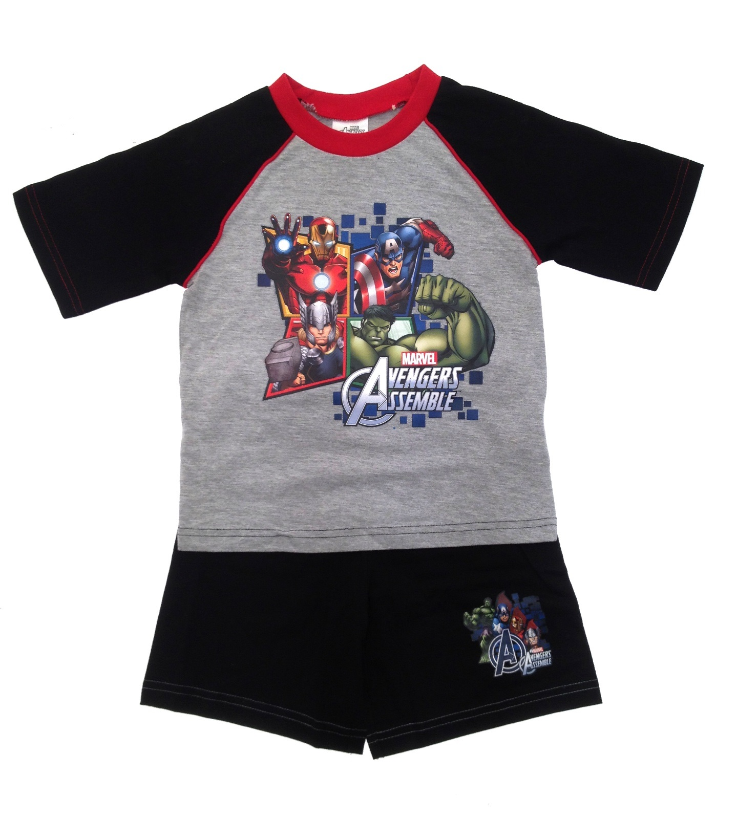 Kids Boys Pyjamas Avengers Assemble Short Pjs Set Superhero Size ...
