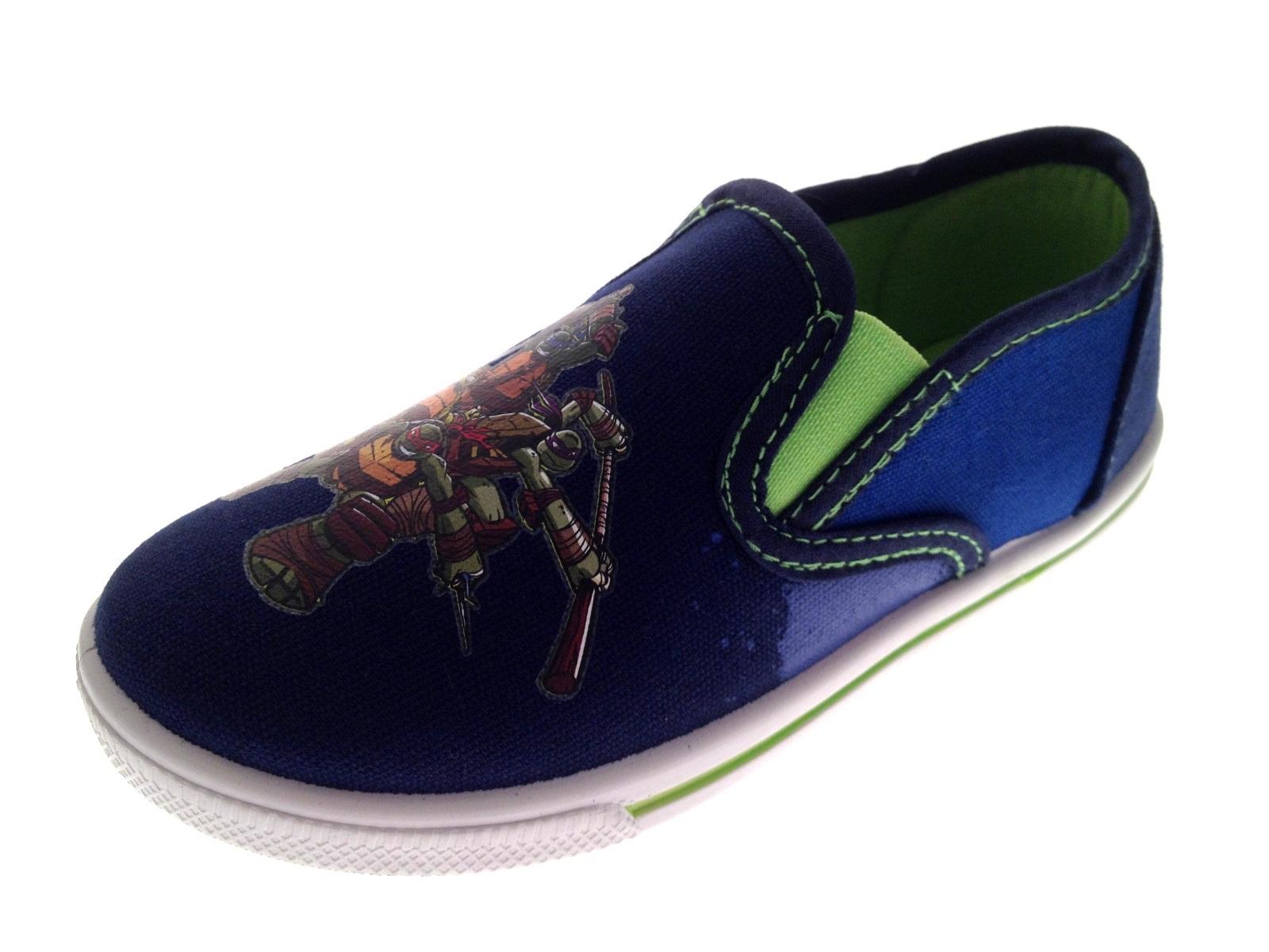 Teenage Mutant Ninja Turtles Canvas Pumps Childrens Boys TMNT Shoes Size UK 9-2 | EBay