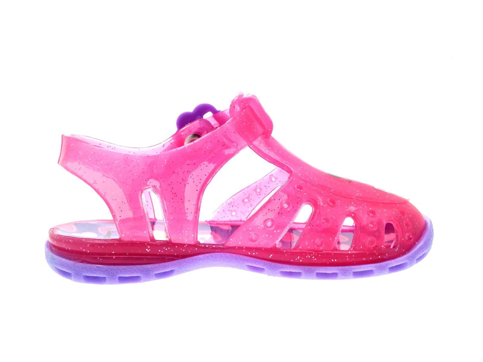 pink doc mcstuffins glitter jelly shoes