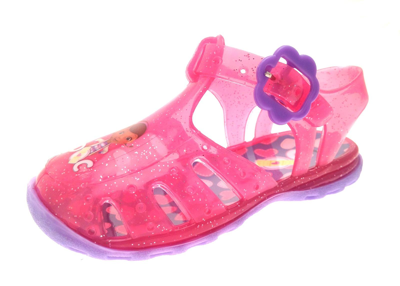 pink doc mcstuffins glitter jelly shoes