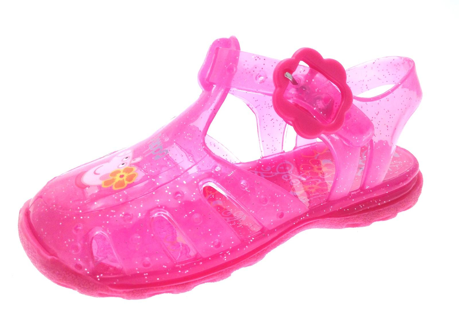 pink glitter peppa pig jelly sandals jellies