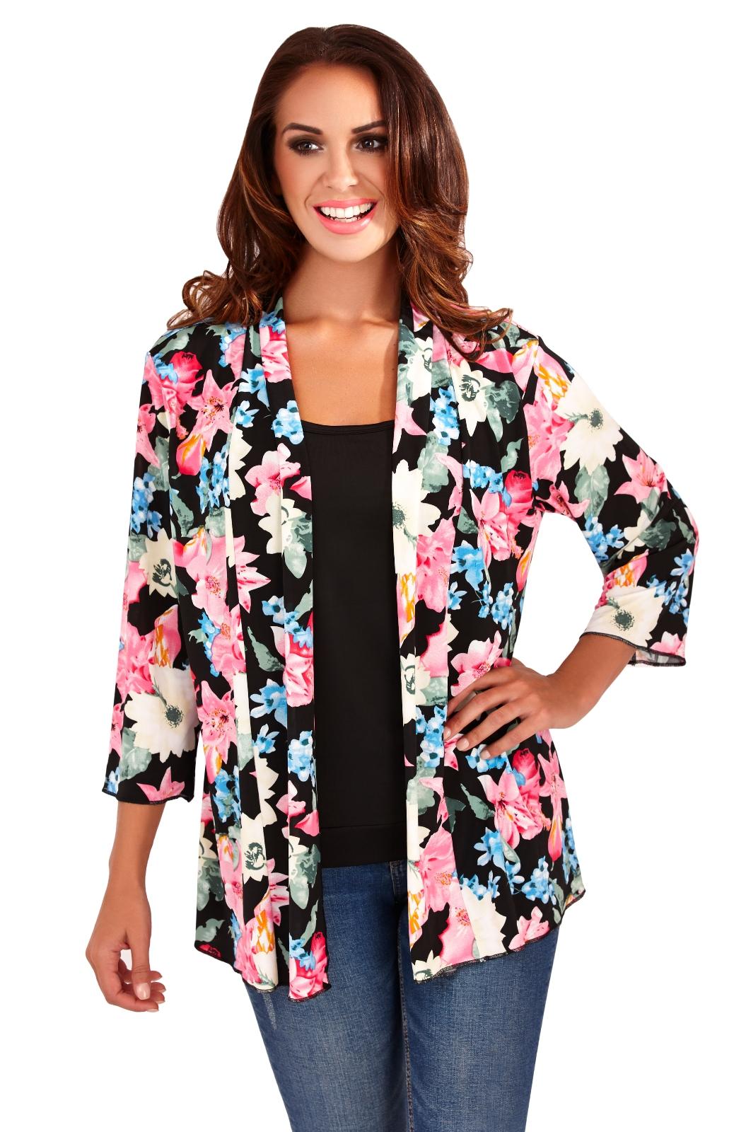 Womens Kimono Boho Cardigan Cape Floral Summer Jacket
