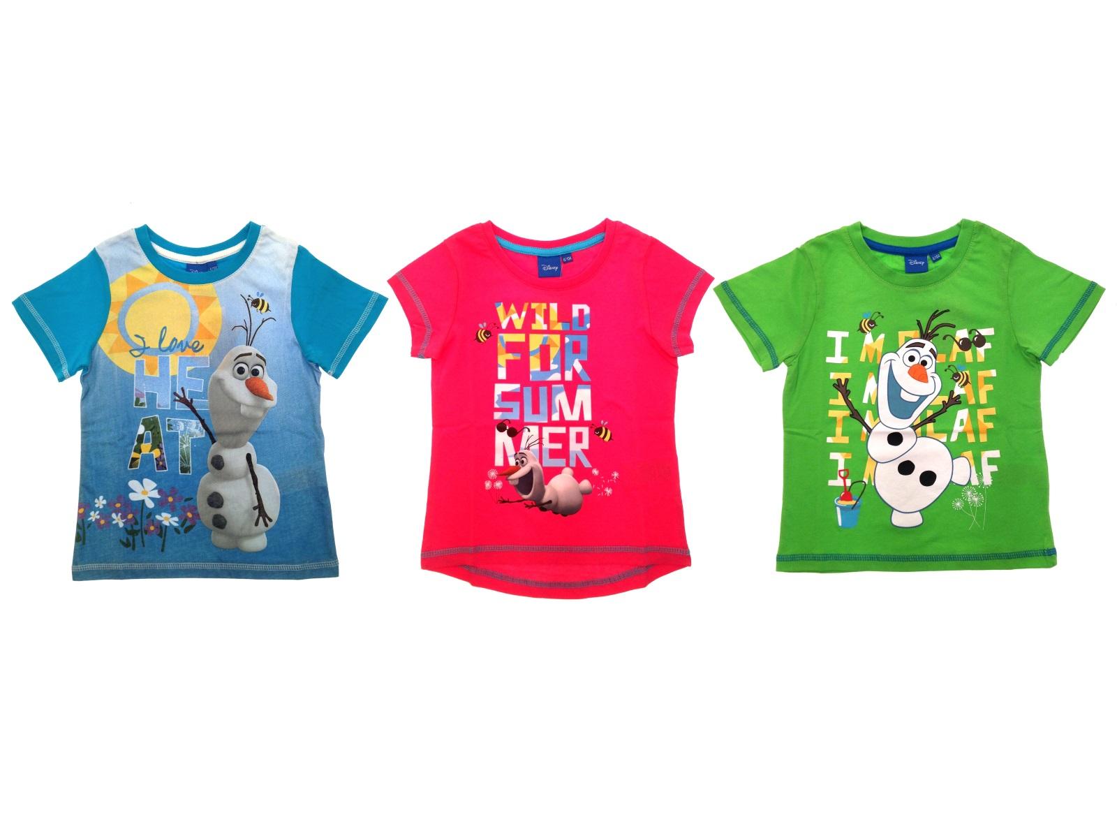 Girls boys official disney frozen t shirts kids olaf for Girls shirts size 8