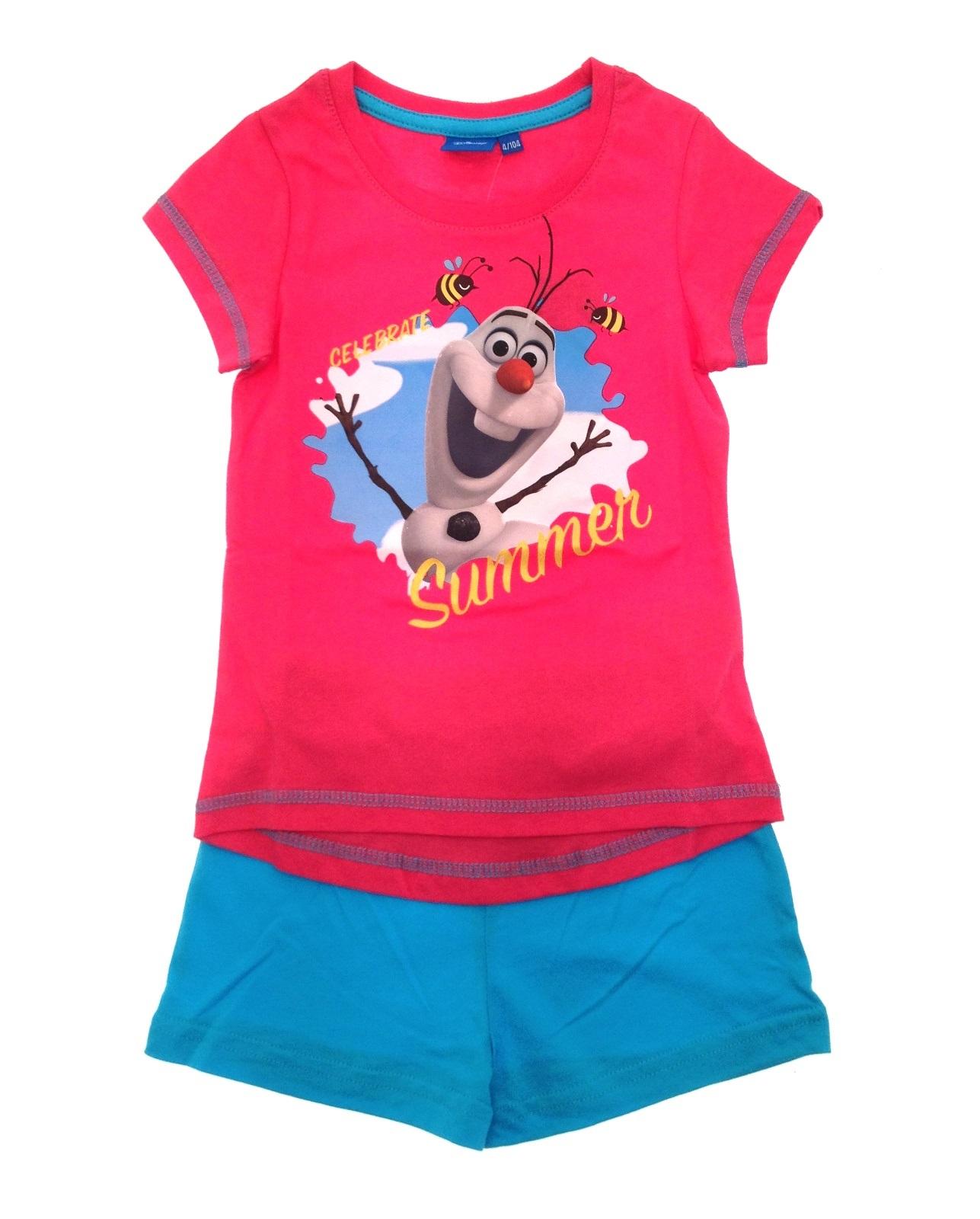 Enfants filles officiel disney frozen court pyjamas pyjama set 2 pièces taille 1-5 ans