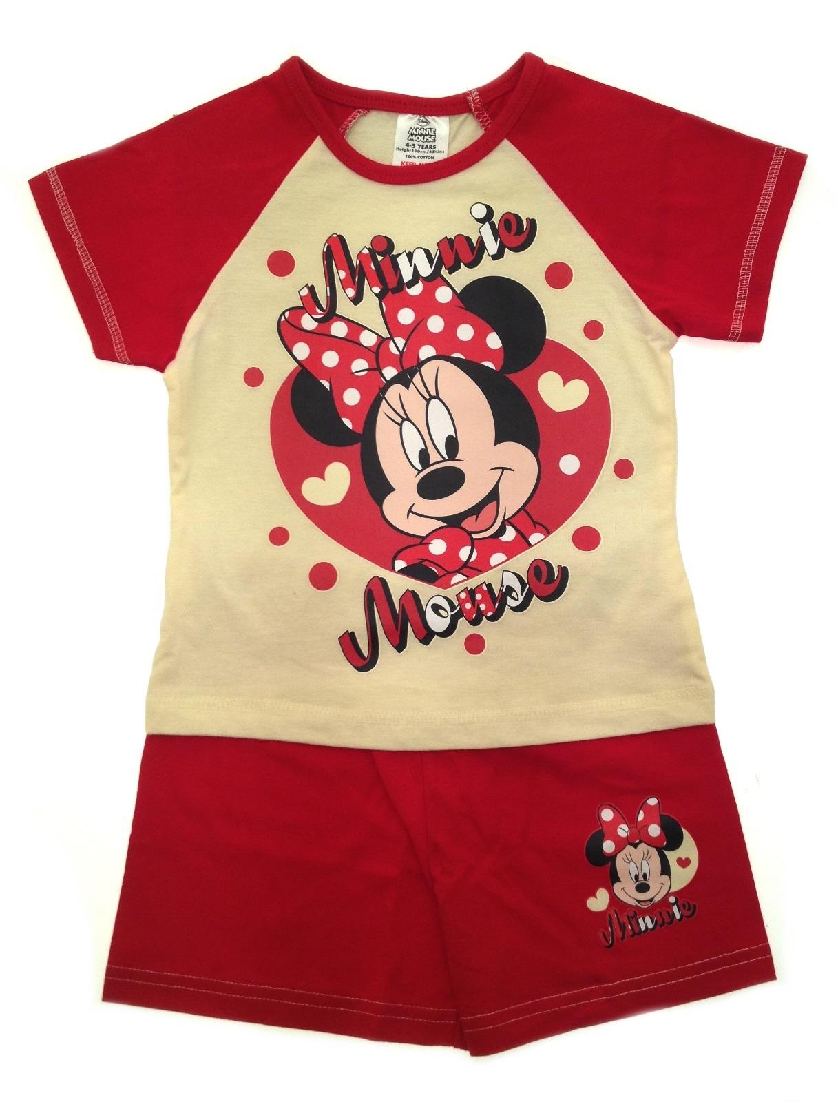 6d55d9055 Kids Girls Official Disney Minnie Mouse Short Pyjamas Pj s Set Size ...