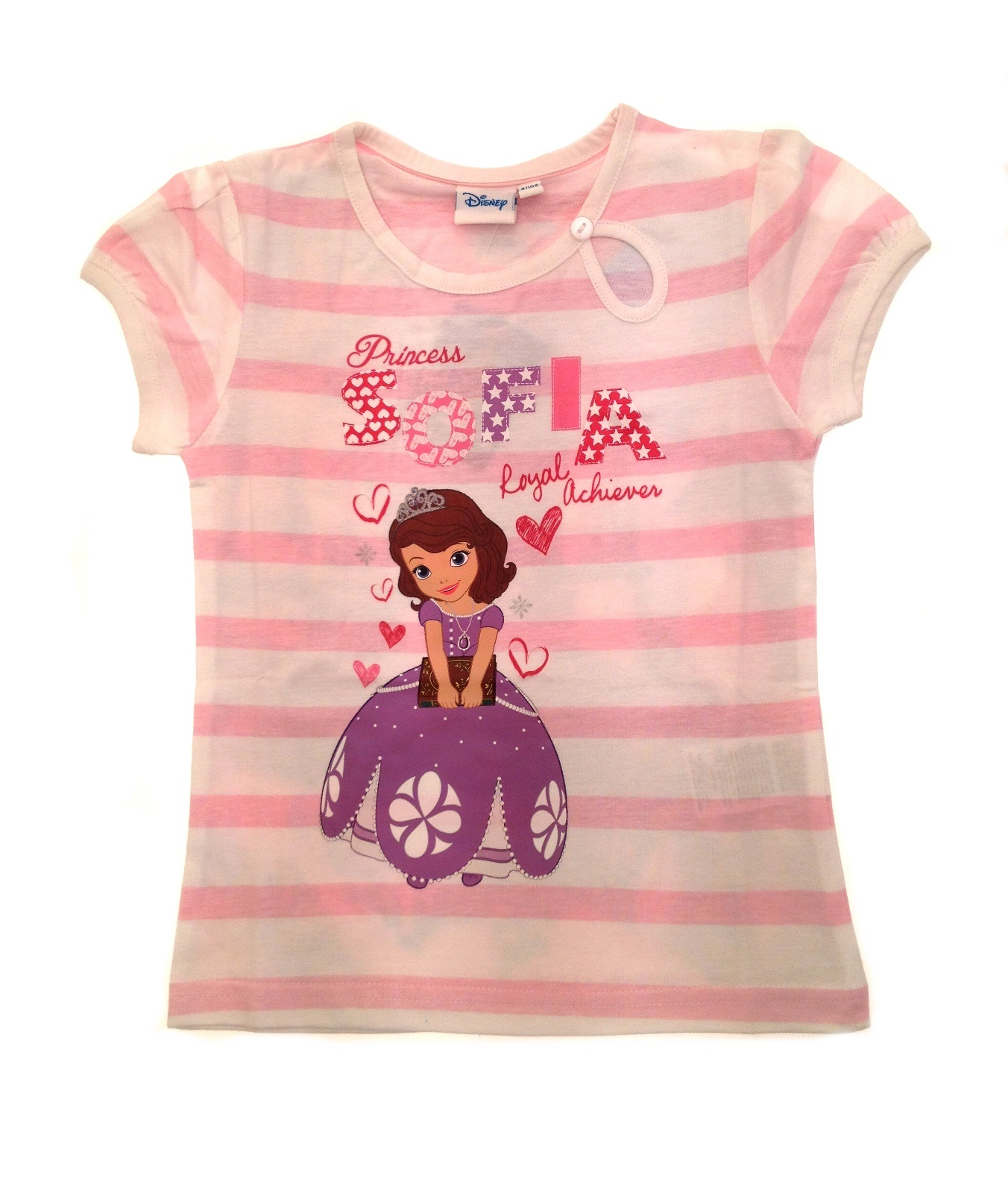 Girls disney princess sofia the first summer tops t shirts for Girls shirts size 8
