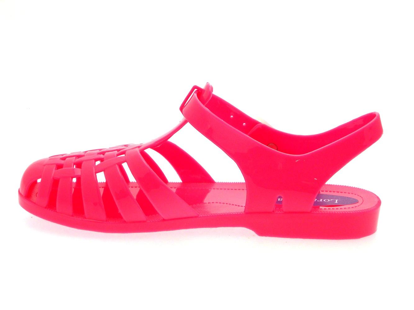 Girls Jelly Sandals Shoes Chunky Block Heel Diamante Kids