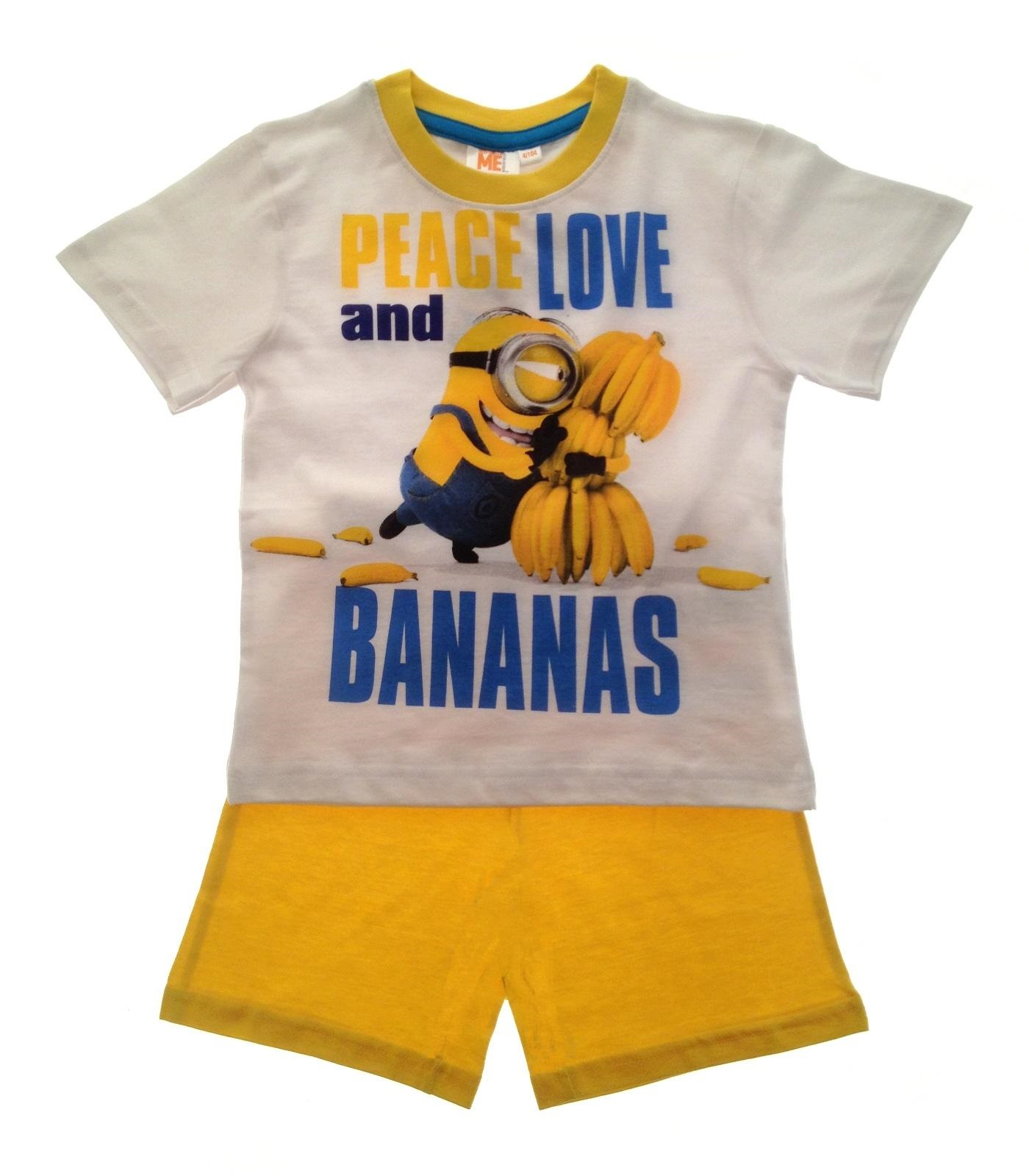 New Kids Girls Boys Pyjamas Despicable Me Minions Shortie Summer Pj/'s Set Size