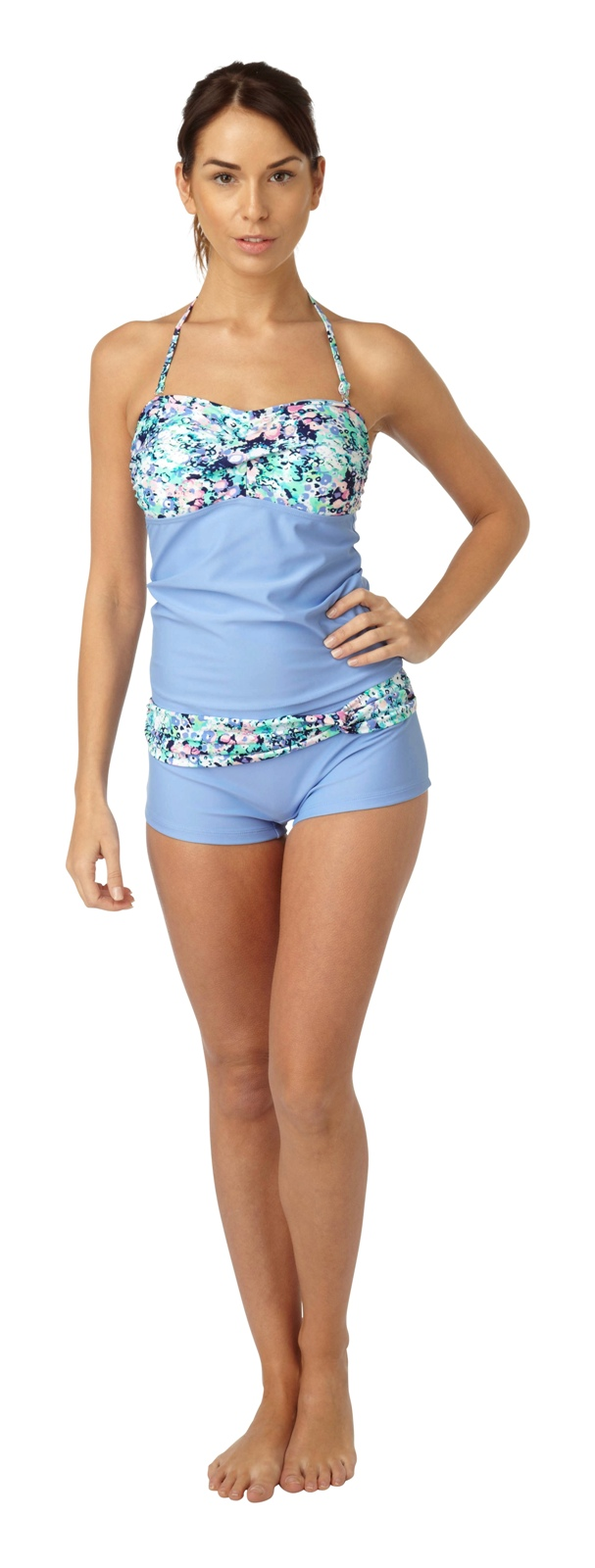 Womens Tankini Set Vest Top + Shorts Summer Beach Ladies ...