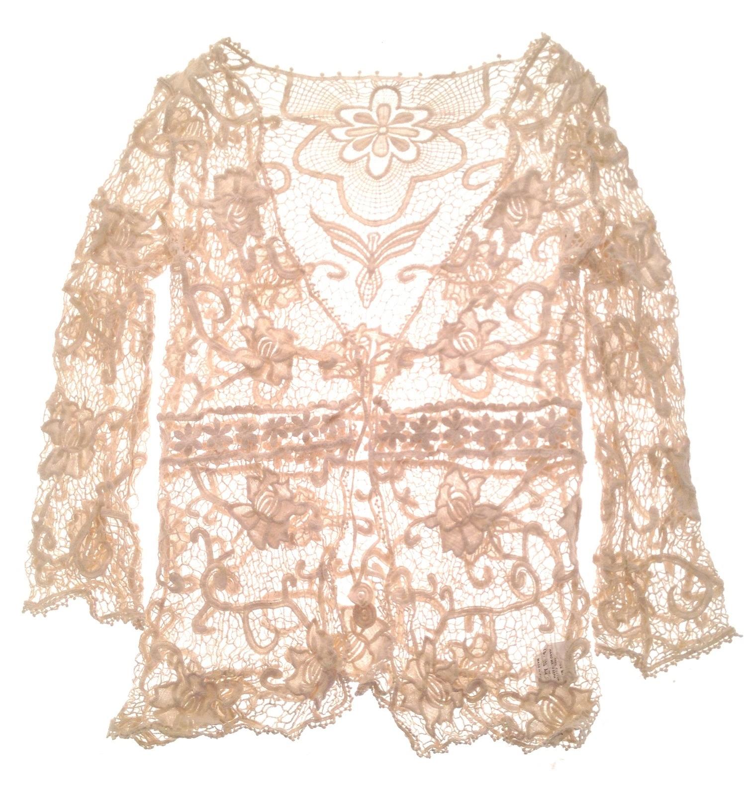 Book Cover Crochet Jacket ~ Womens cotton crochet knitted jacket cardigan top beach