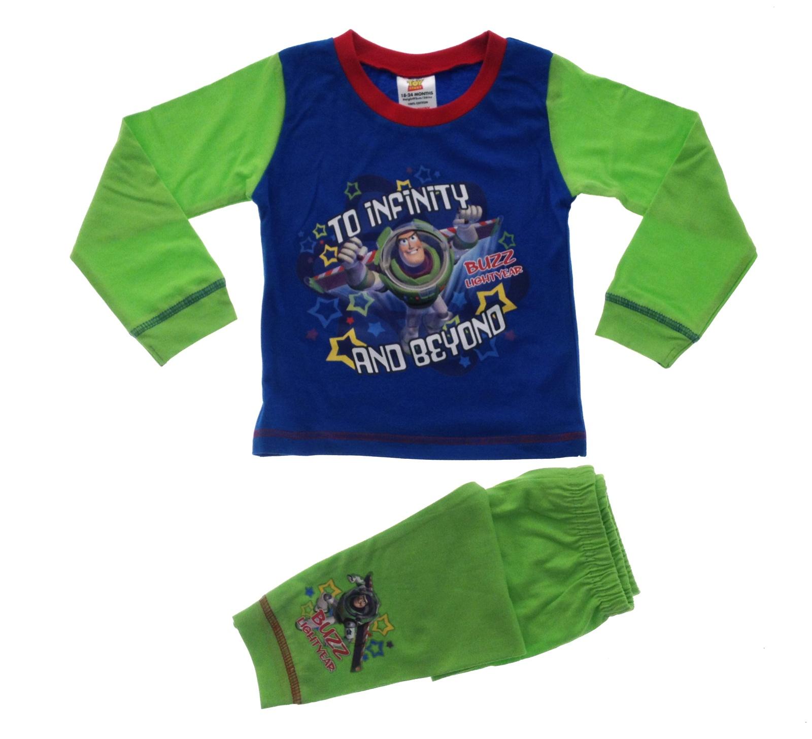 Kids Boys Official Disney Toy Story Buzz Woody Pyjamas PJ's Set Size 1 ...