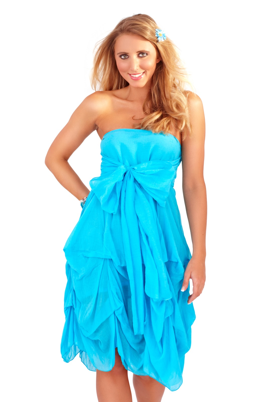 Womens Strapless Summer Dress Beach Cover Up Ruffled Maxi ...