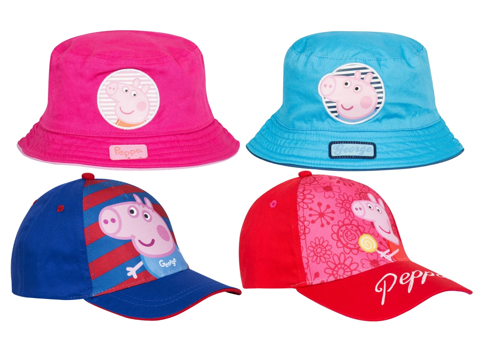 Boys Girls Peppa Pig Sun Hat George Summer Baseball Peak Cap Childrens Size  S-XL a3fae89df38