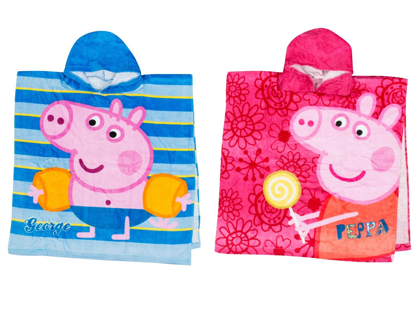 Kids George Peppa Pig Hooded Beach Bath Towel Hooded