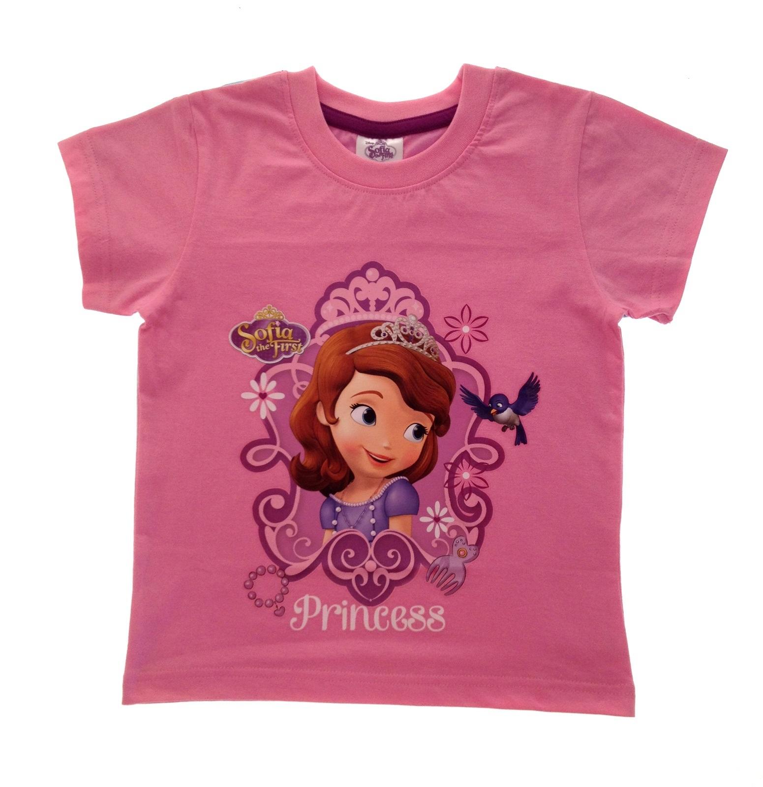 girls disney princess sofia the first summer tops t shirts size uk 2 8 years ebay. Black Bedroom Furniture Sets. Home Design Ideas