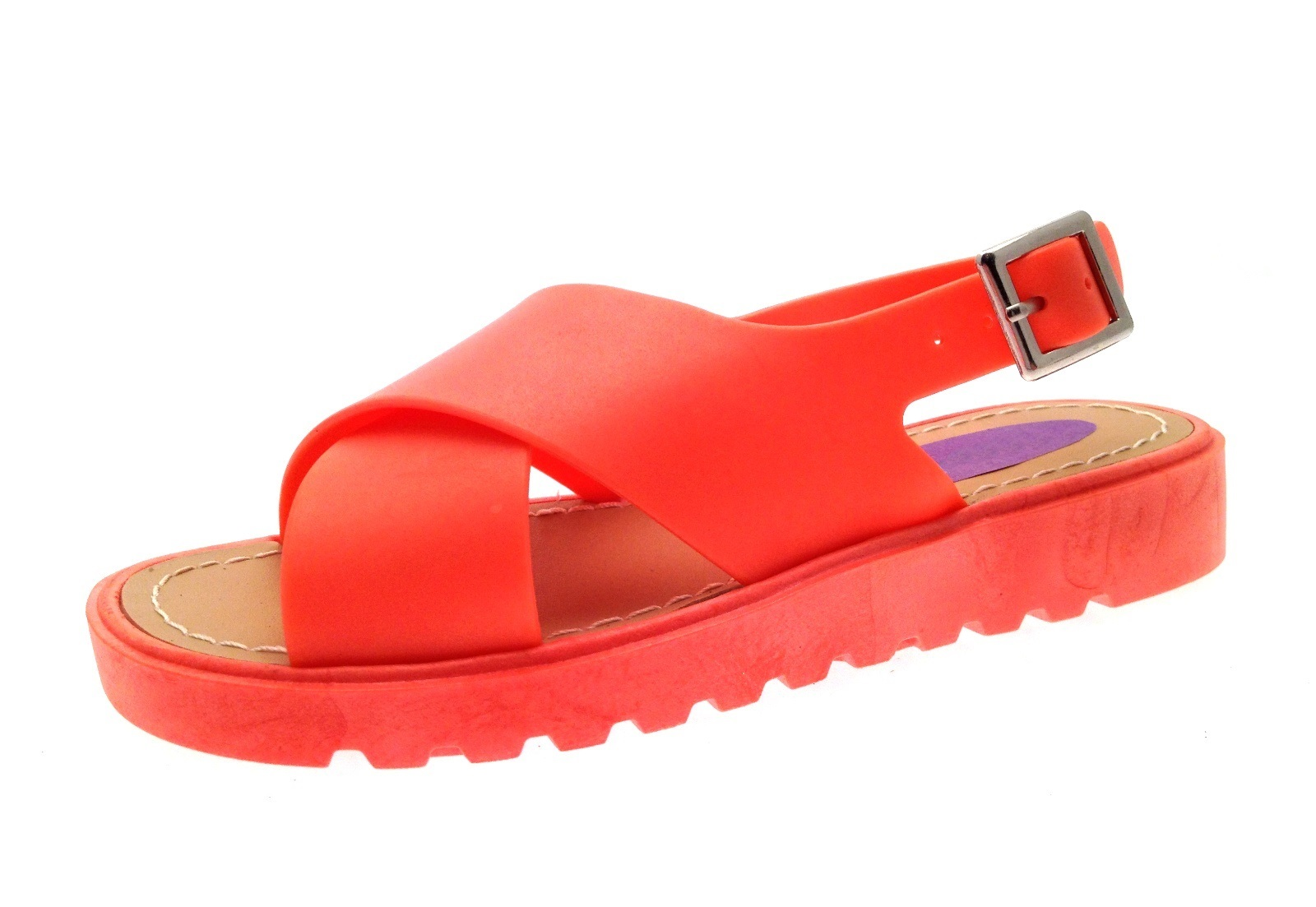 Chicas Jelly Sandalias Crossover Correas Con Zapatos Playa jaleas tamaño del Reino Unido 10-2