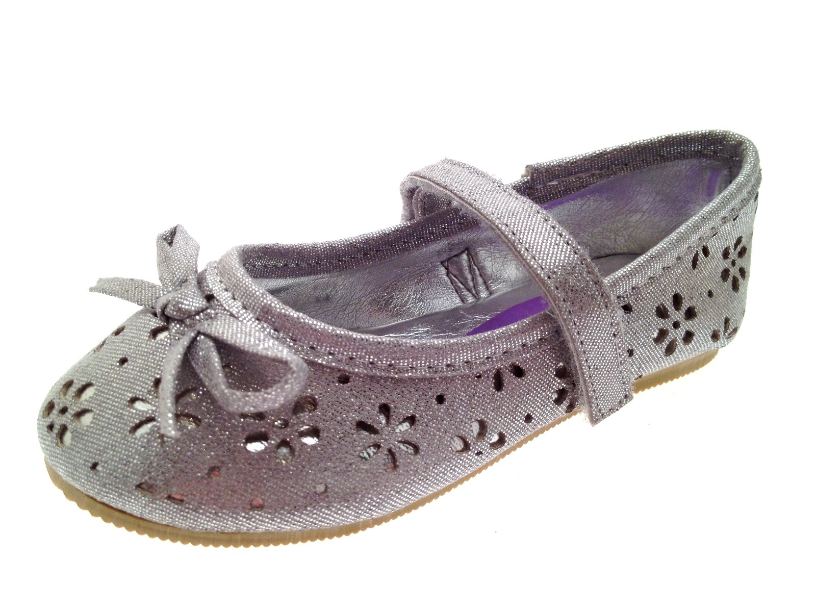 Chicas Brillo Flor Fiesta Zapatos Mary Janes Plana Ballet Bombas Kids Talle Uk 4-12