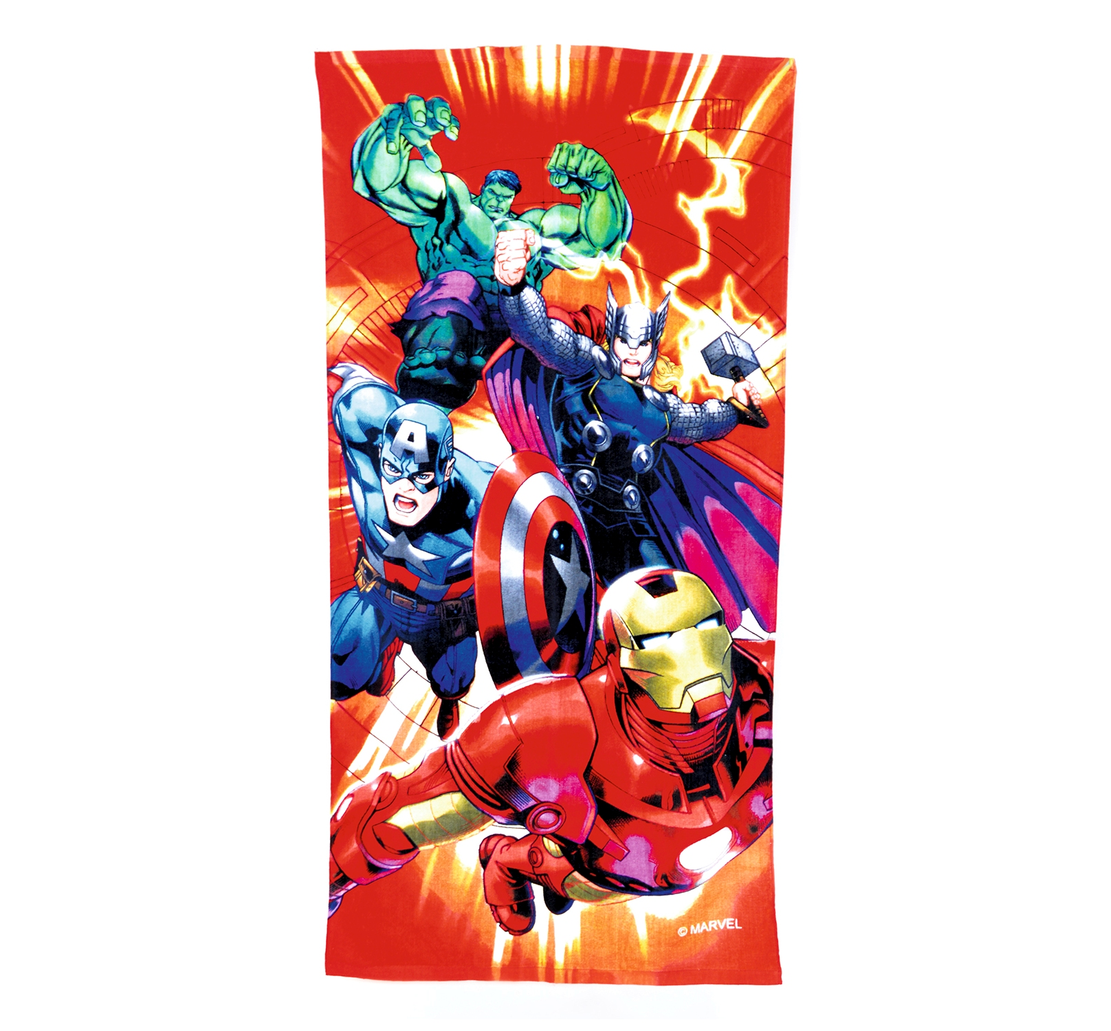 Boys Marvel Avengers Towel Summer Swimming Beach Bath