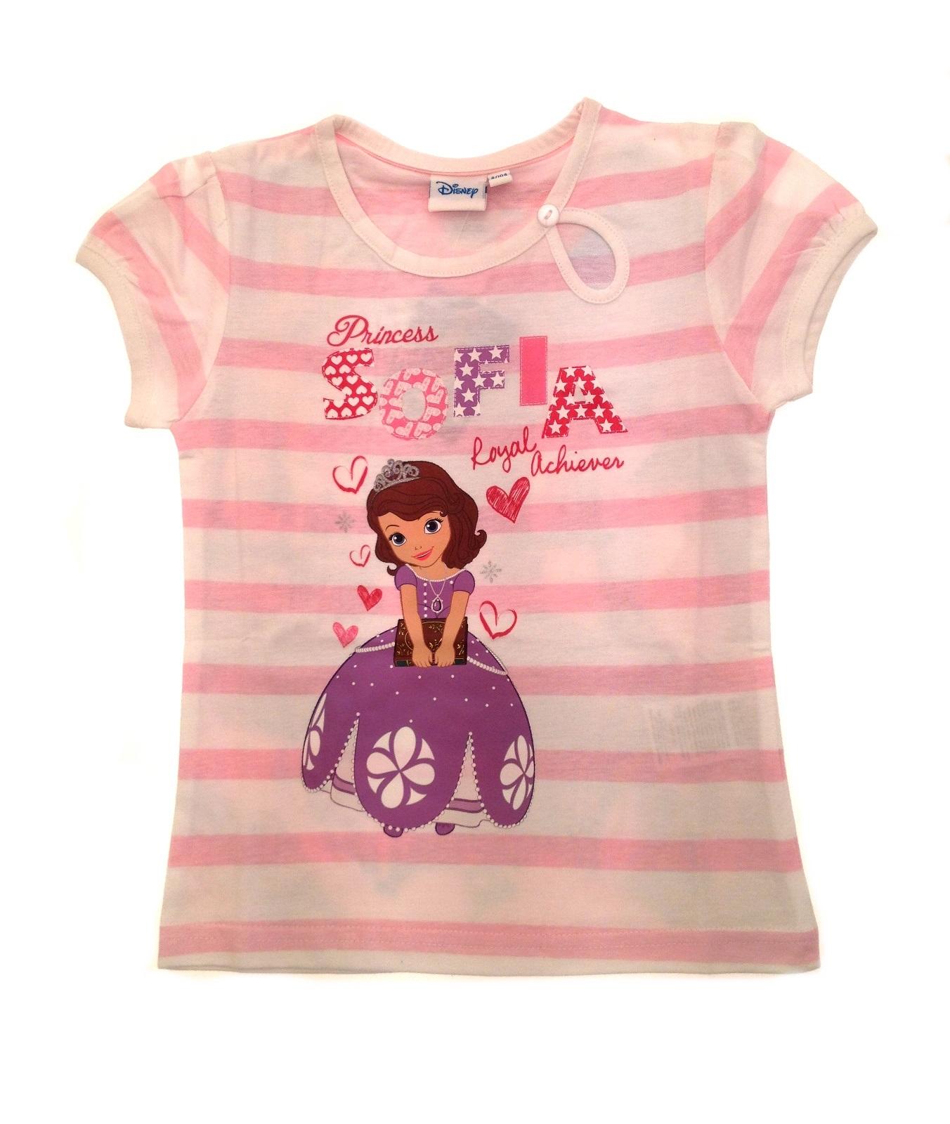 disney princess sofia t shirt short sleeved top girls clothing kids uk 2 8 years ebay. Black Bedroom Furniture Sets. Home Design Ideas