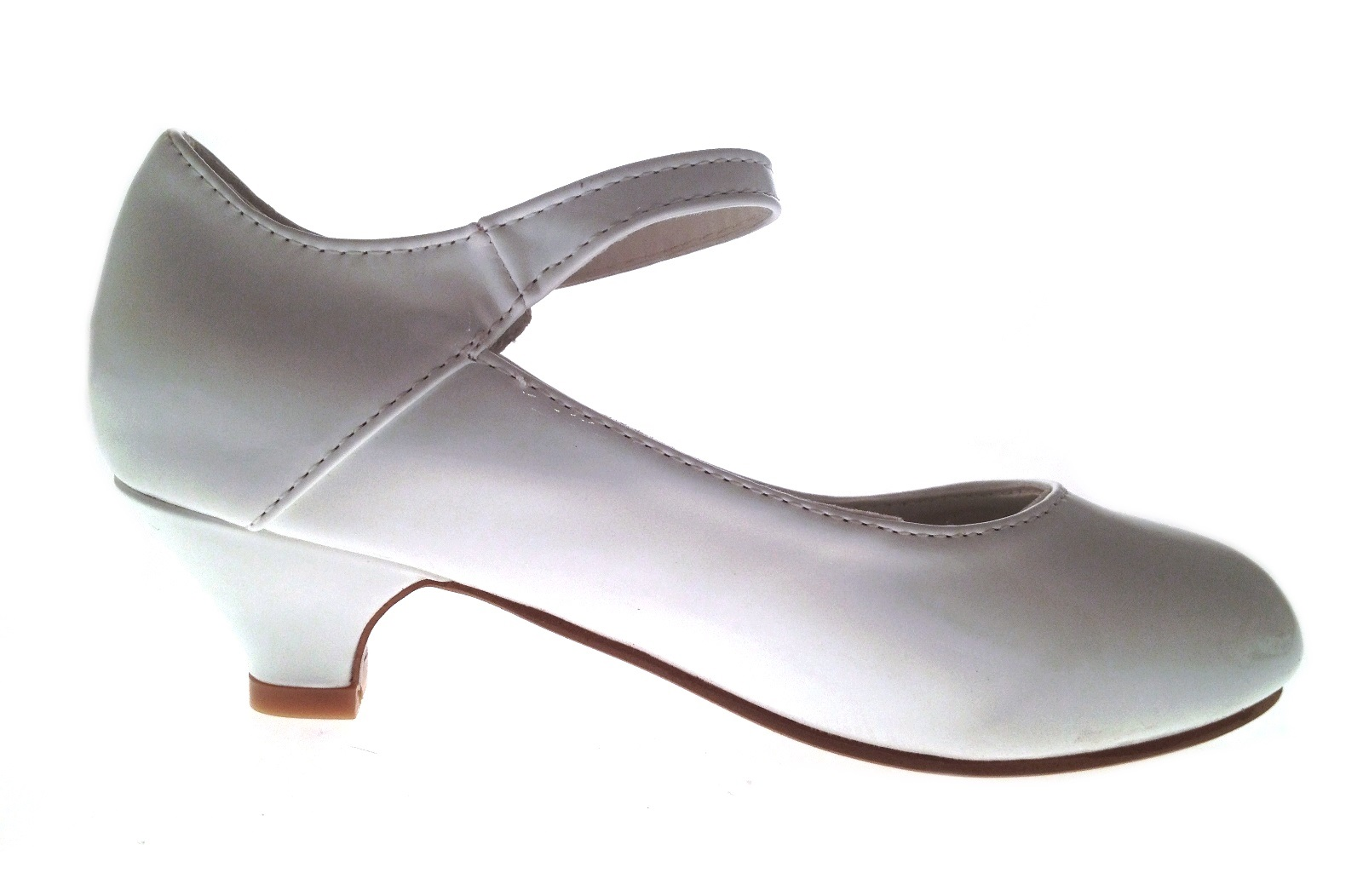 598a17a84be Details about Girls Kids Faux Leather Mary Jane T Bar Party Shoes Low Heels  Wedding Size 10-2