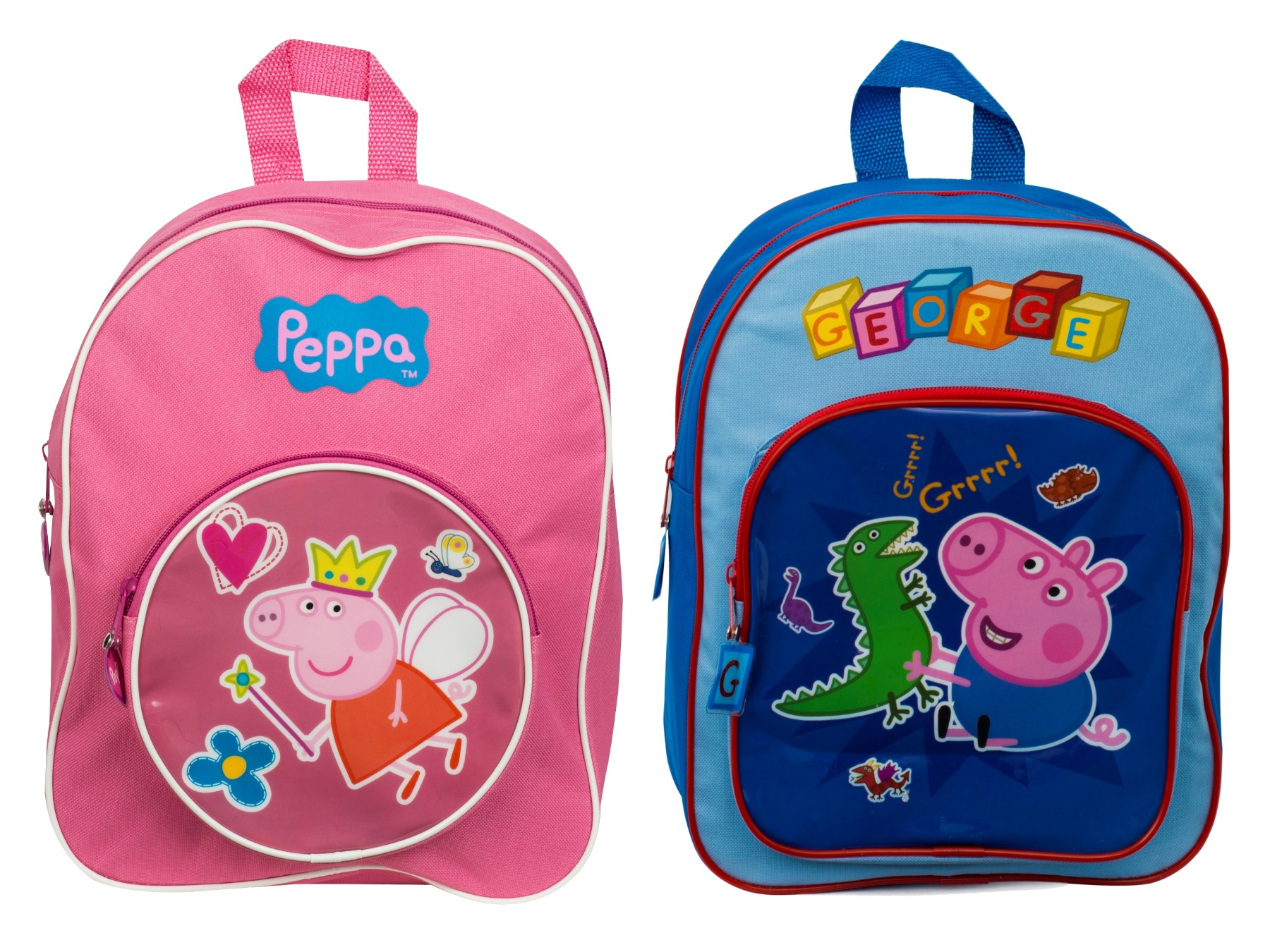 Kids Girls Boys Peppa Pig George School Bag Travel Rucksack ... 3146142228fe9