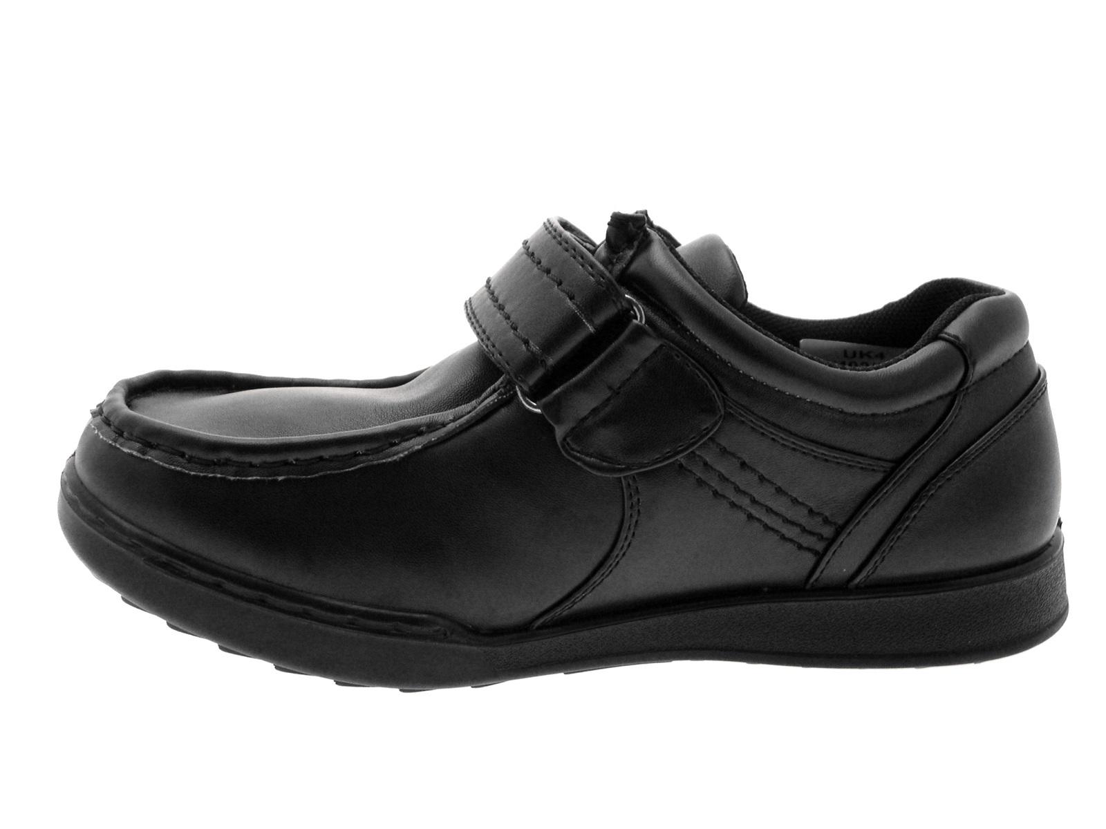 Boys Shoes Boys Formal Shoes Black Shoes Velcro Leather
