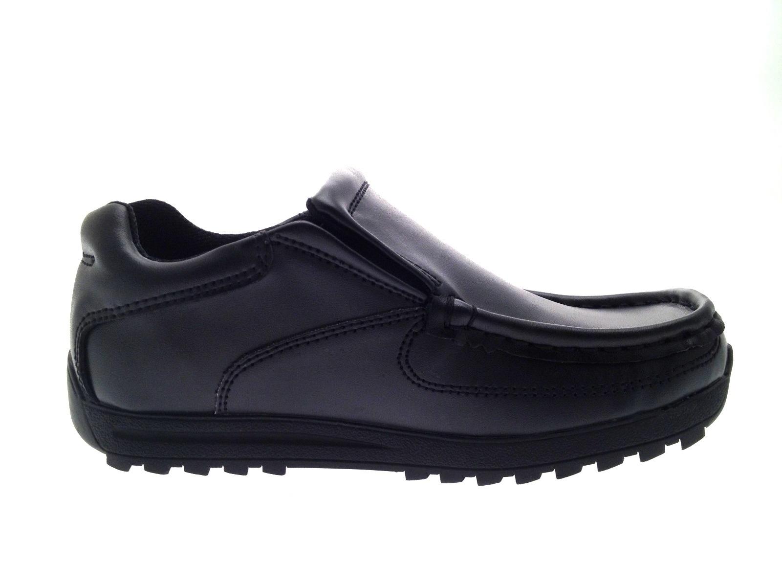 Mens Boys Kids Black Leather School Shoes Work Loafers Formal Shoes Size UK 2-11   EBay