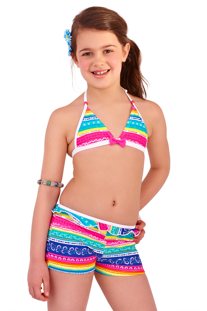 Girls Bikini Striped Floral Summer Beach Childrens ...