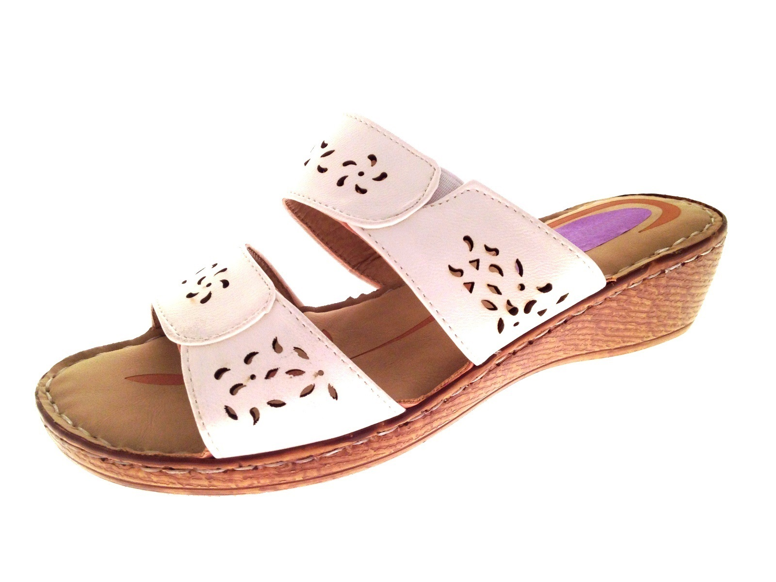Sandals shoes summer - Womens Low Wedge Comfort Sandals Strappy Mules Ladies Summer Shoes Size Uk 3 8