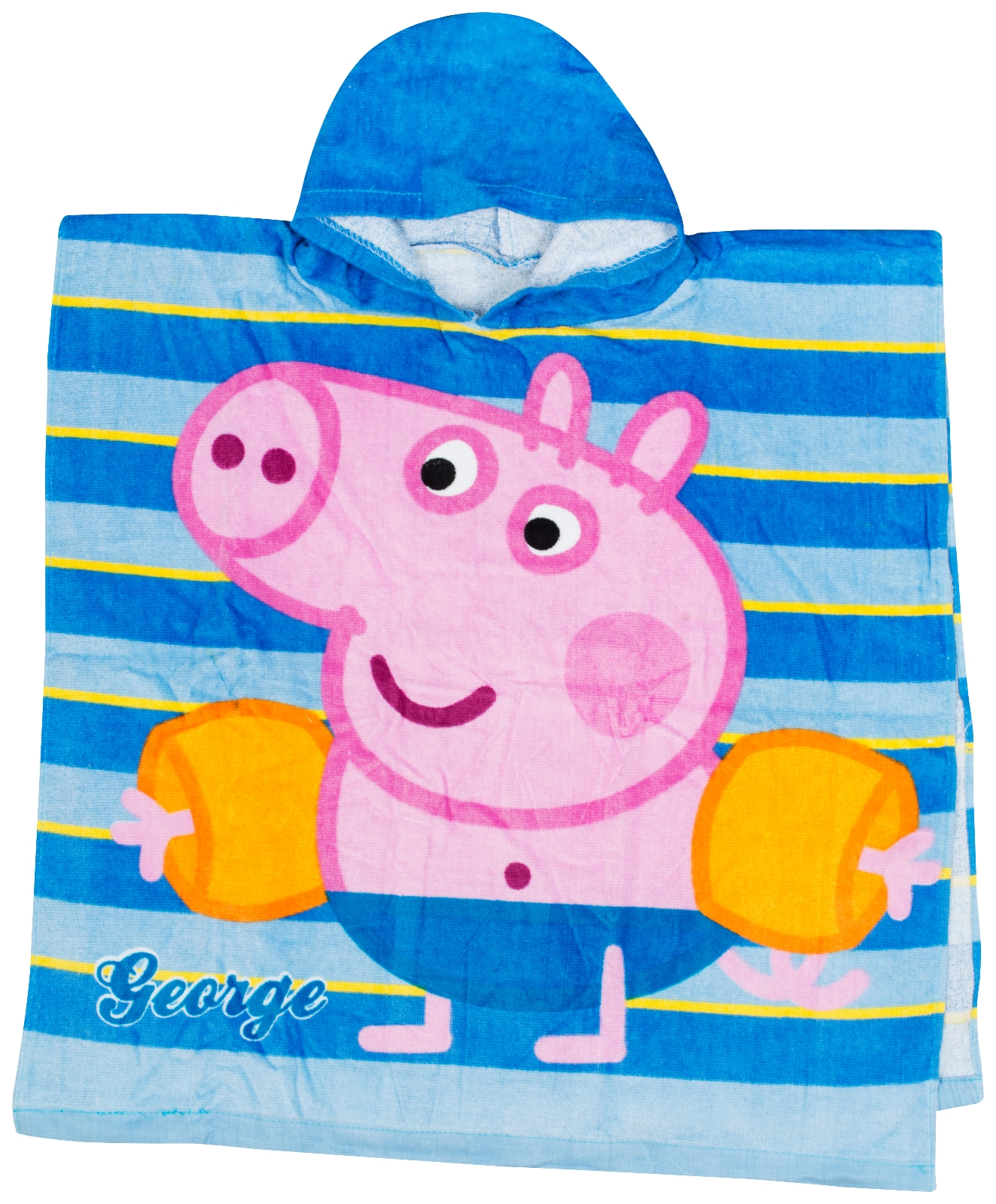 Beach Blanket Amazon Uk: Kids Official Character Ponchos Hooded Beach Bath Towels