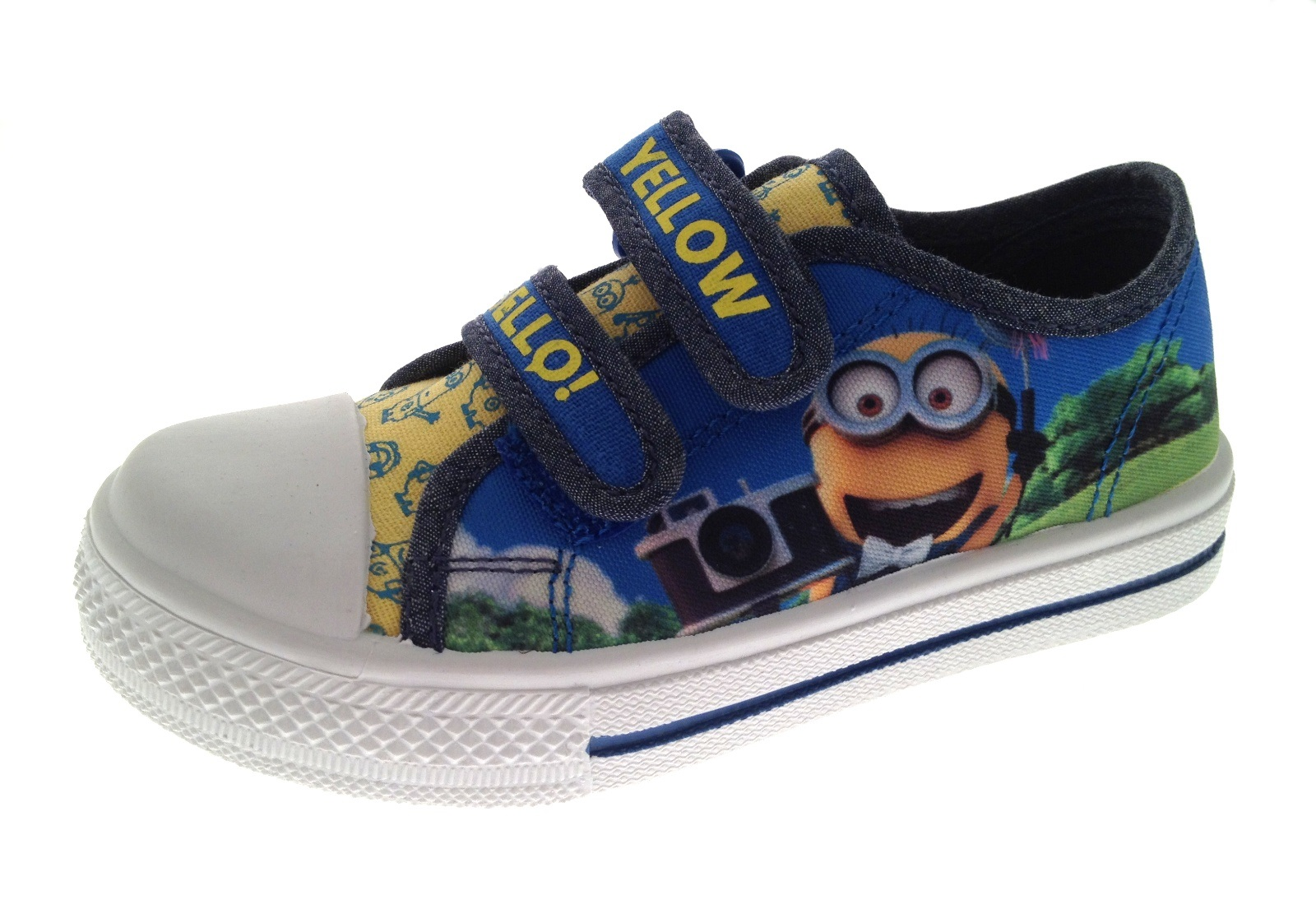 Boys Despicable Me Minions Range Clogs Canvas Pumps Wellies Boots Shoes Size 6-1